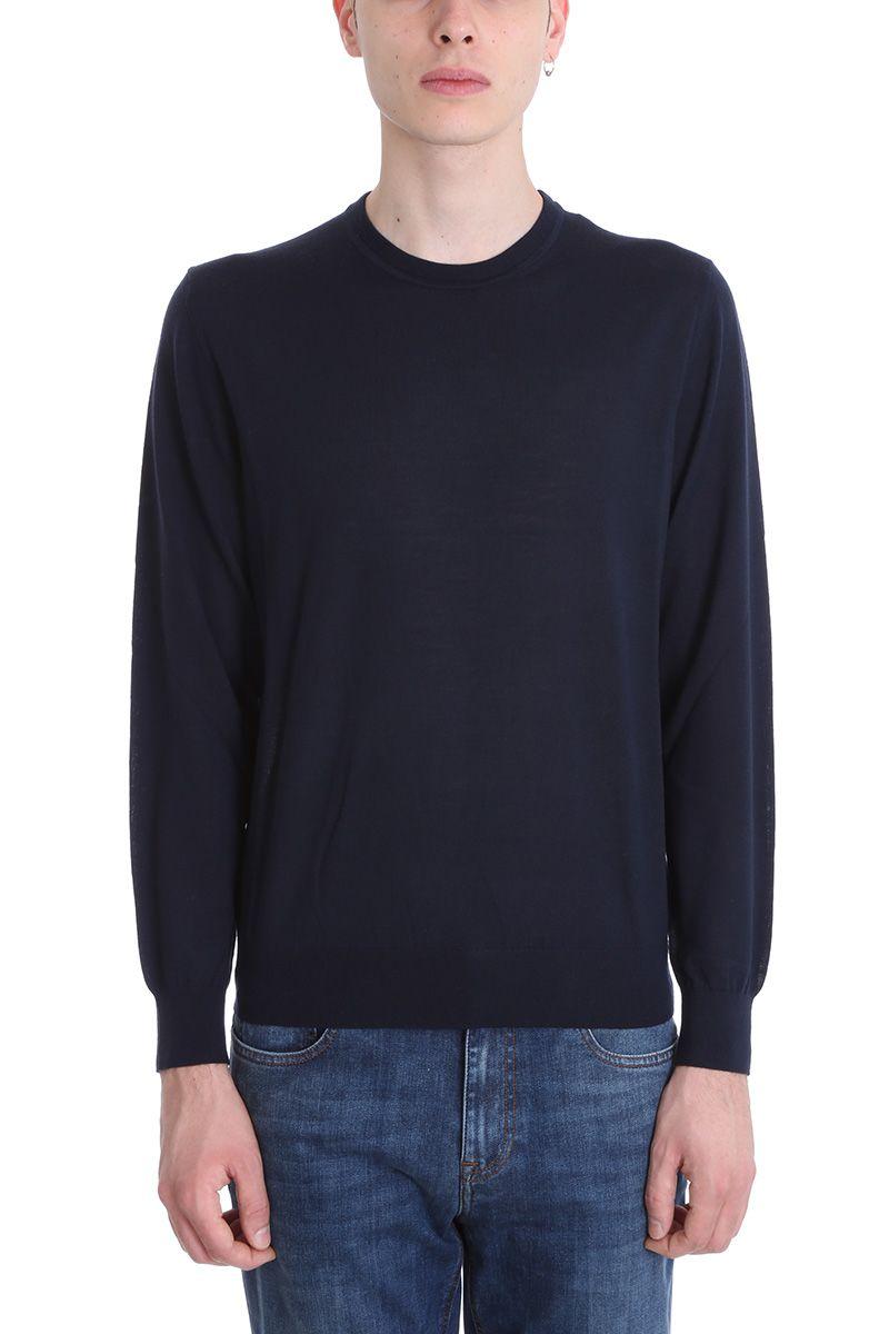 Z Zegna Blue Wool Sweater