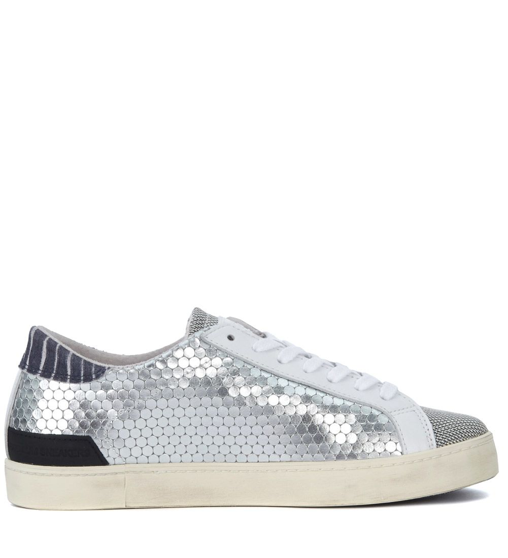 Cheap Fake Really d.a.t.e. Hill Low Pong Silver Laminated Honeycomb Leather Sneaker OoCn6i0Vag