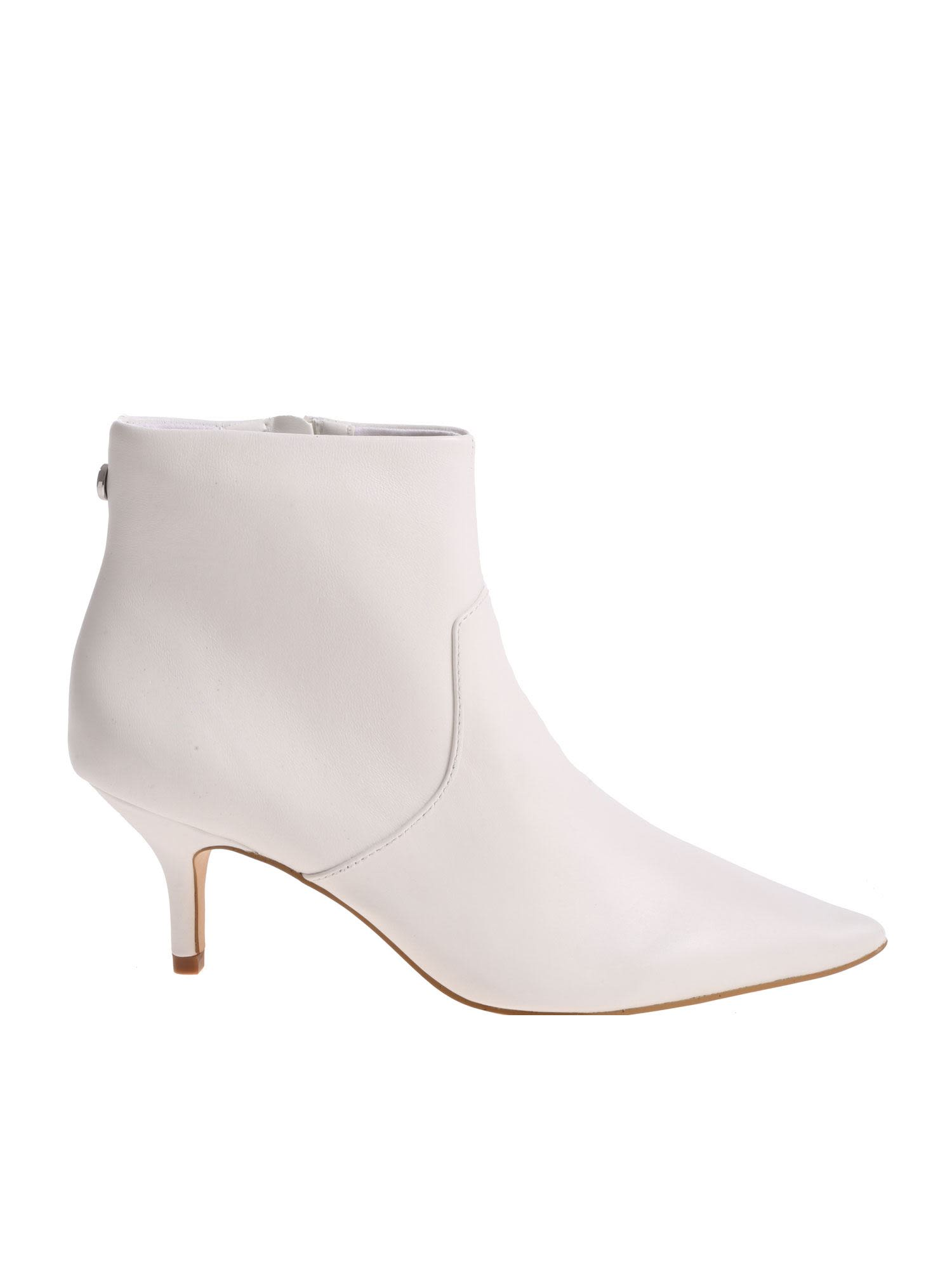 b013f464eb0 Steve Madden Leather Kitten Heel Boot - White