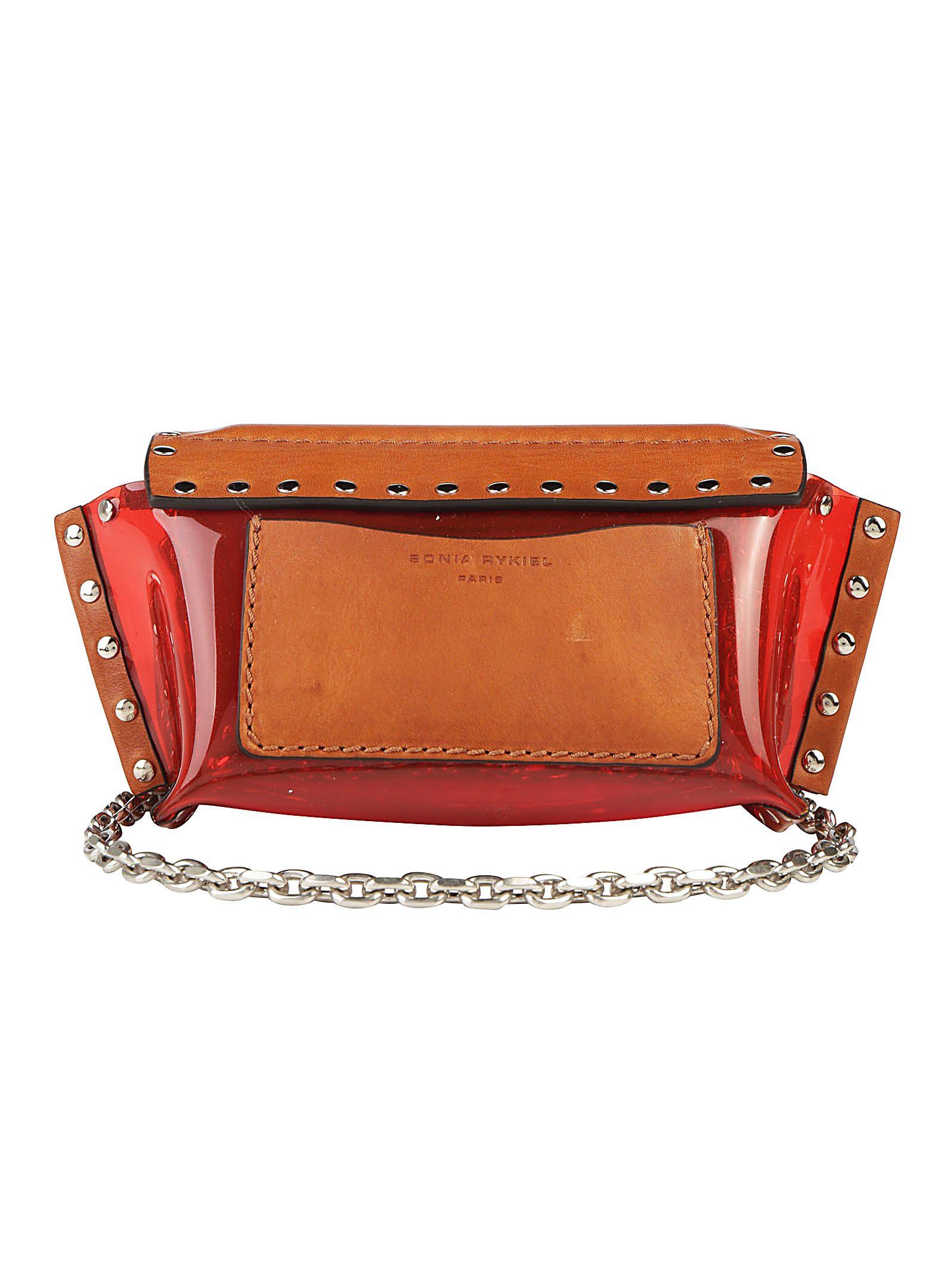 Meilleur Prix Prix Pas Cher Sonia Rykiel Sonia Rykiel Le Copain Clou Shoulder Bag - Brown Collections De Vente À Bas Prix dDuS1Ws9