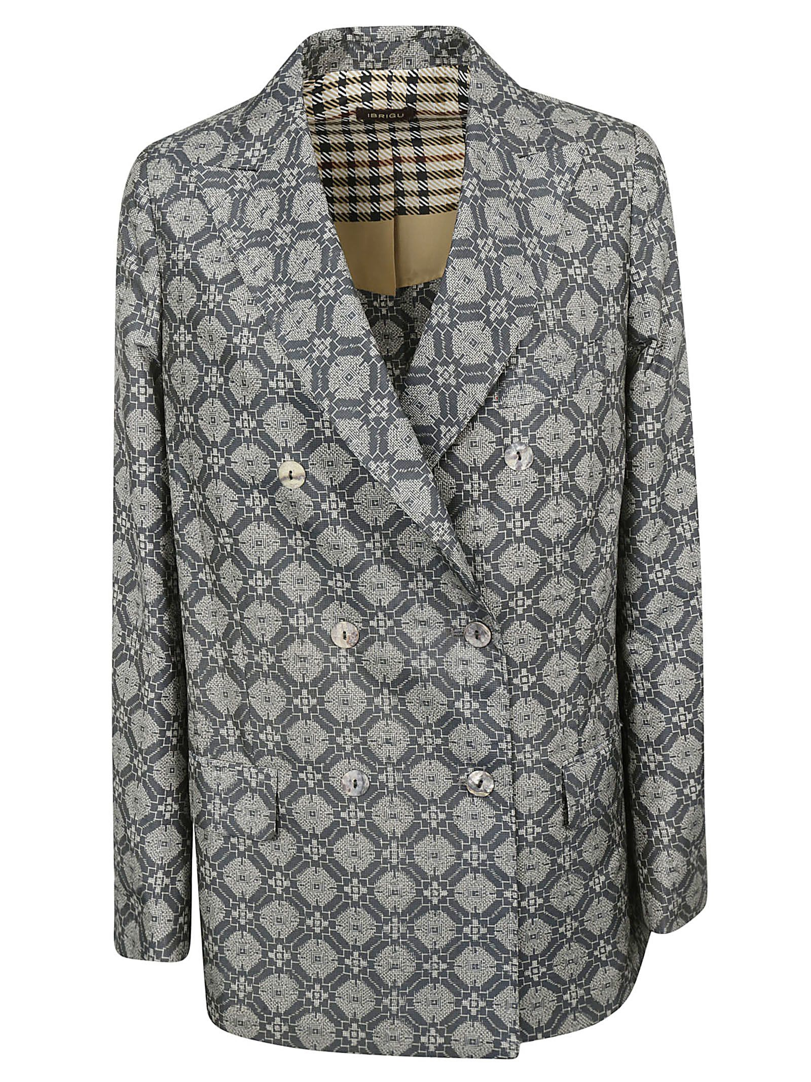 IBRIGU Double Breasted Jacket in Fantasy4