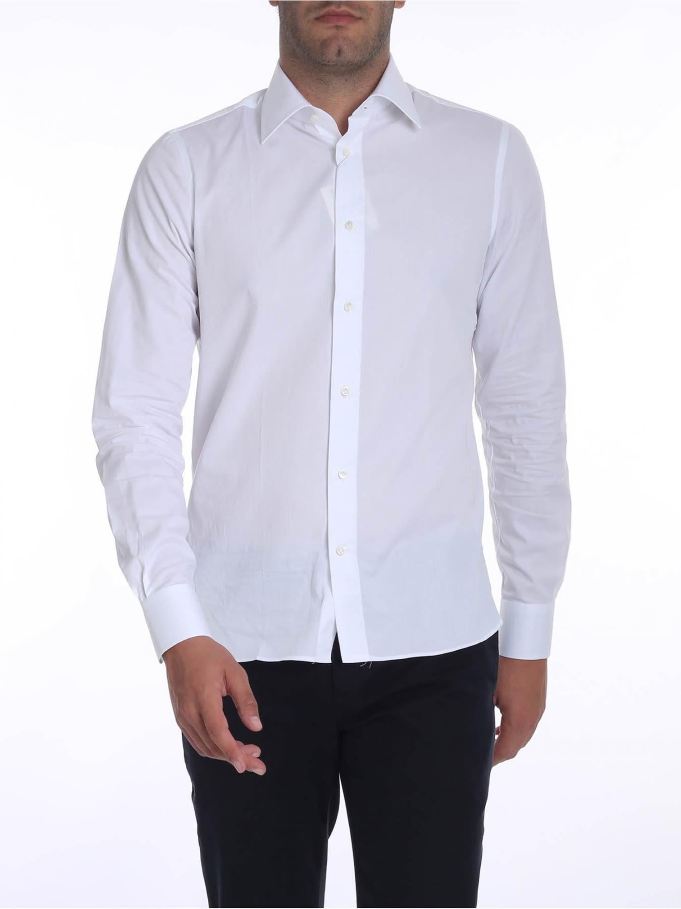 G. INGLESE Cotton Shirt in White