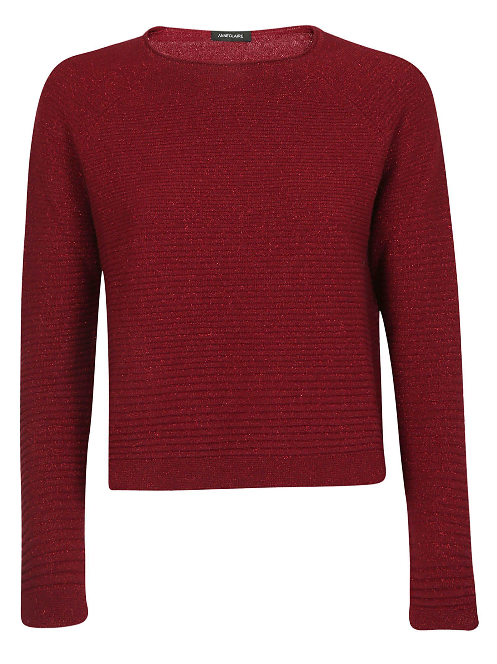ANNECLAIRE Classic Sweater in Rosso Scuro