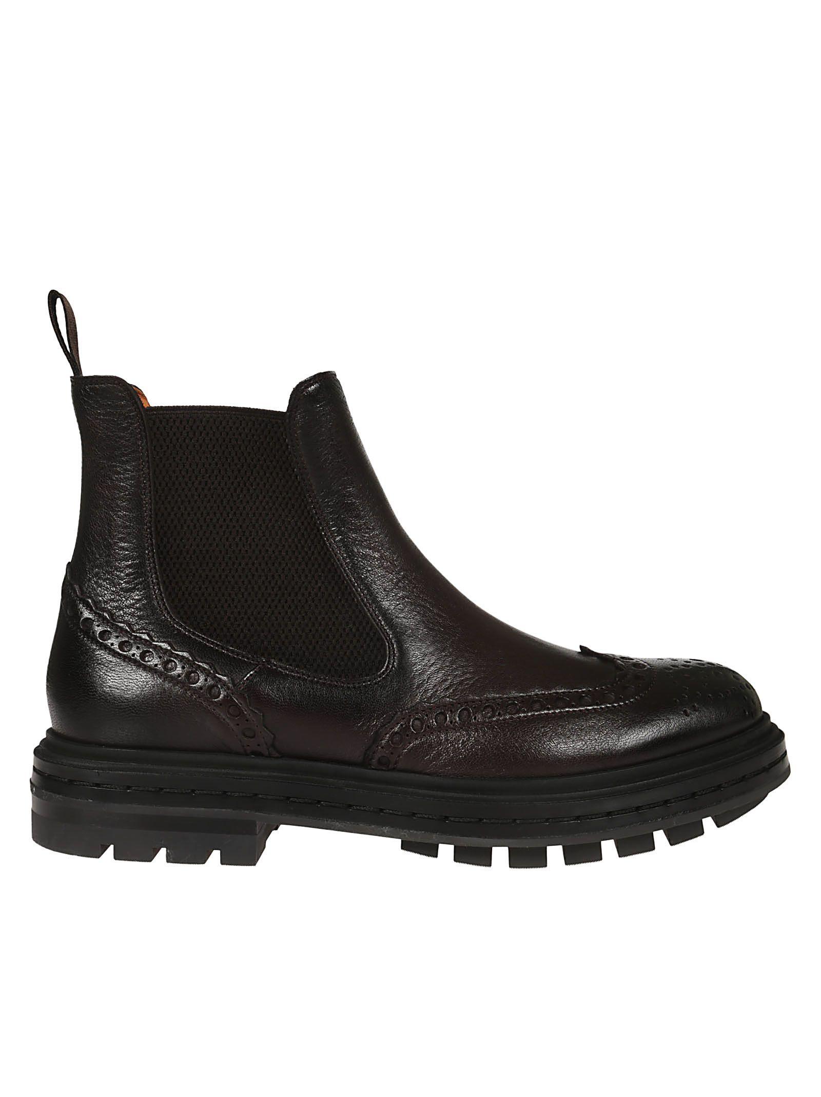 Santoni Brogues Ankle Boots