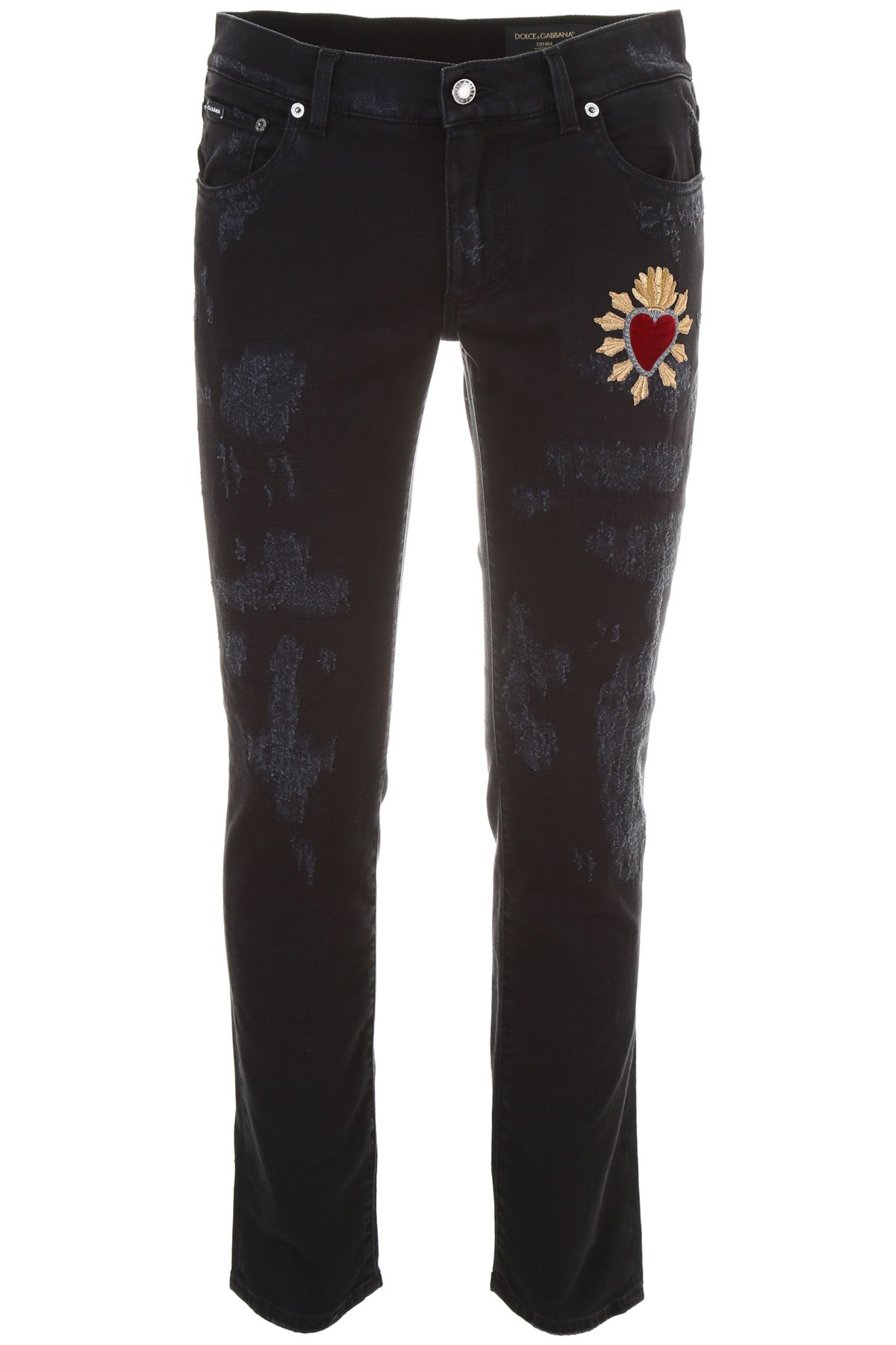 Distressed Jeans With Patch 10569398