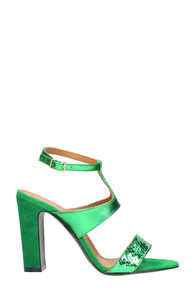 Outlet From China Discounts Cheap Online Via Roma T-strap Laminated Sandals Factory Sale Sale Top Quality u1Xxg