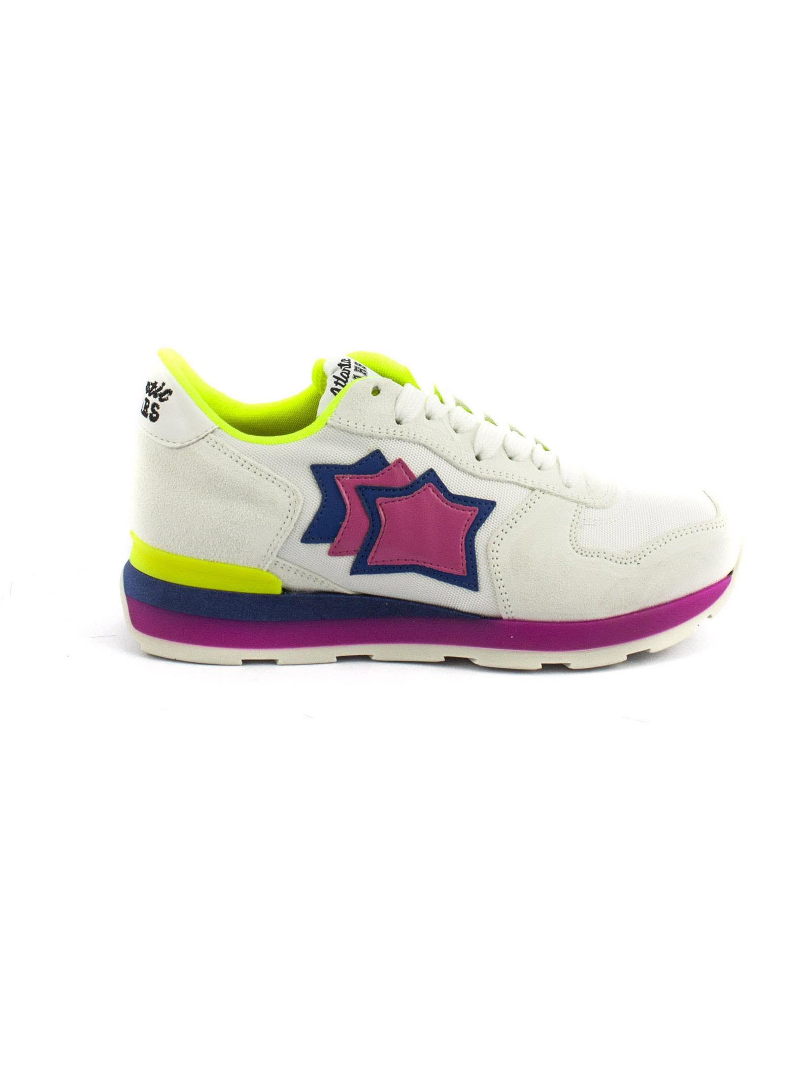 Atlantic Stars Vega In White Suede And Fabric Sneaker Very Cheap Sale Online With Mastercard Online pCulVy