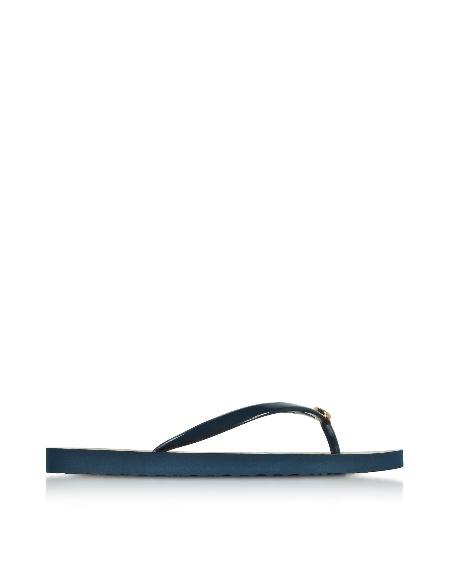 Tory Burch Thin Tory Navy And Psychedelic Geo Flip Flop
