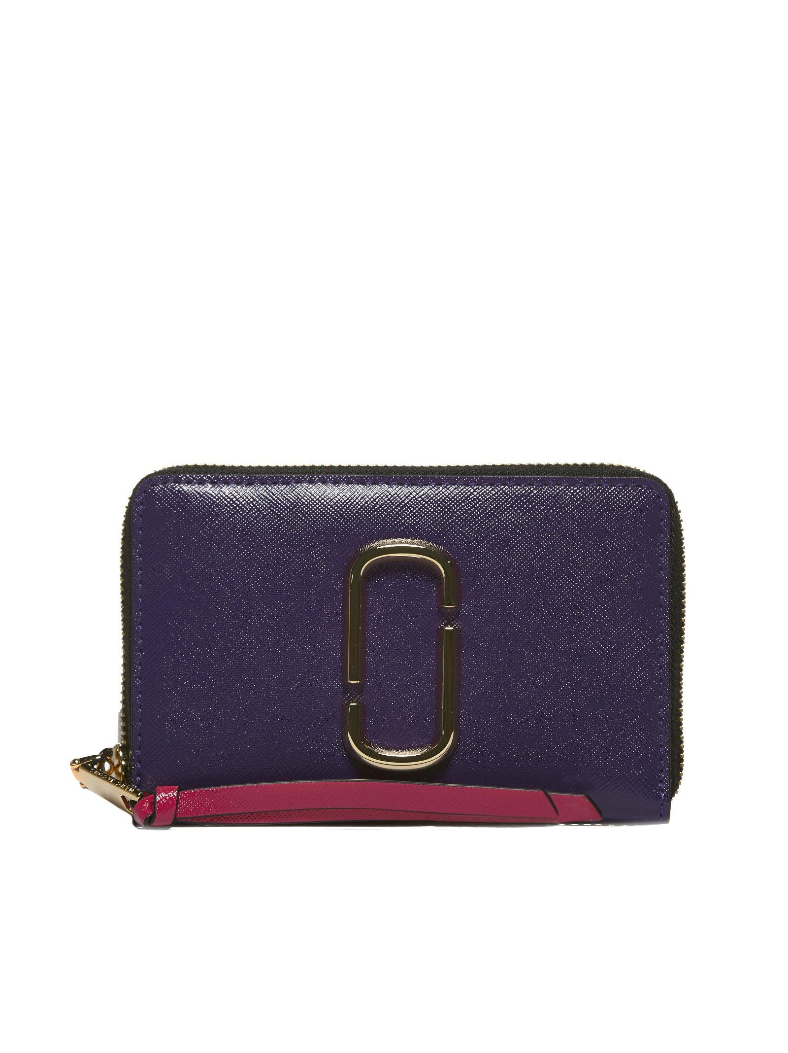 Snapshot Compact Zip Around Wallet in Viola Arancio