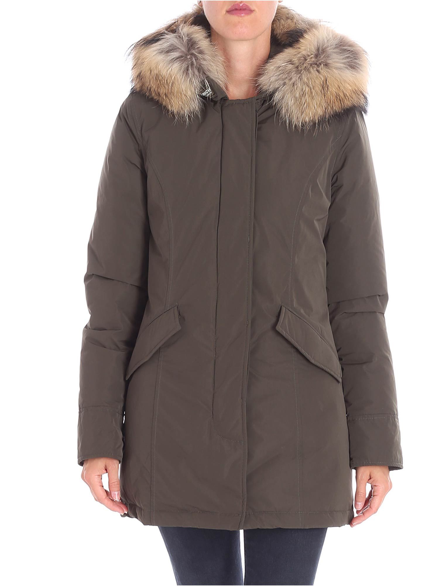 CHEVRON QUILTED PARKA