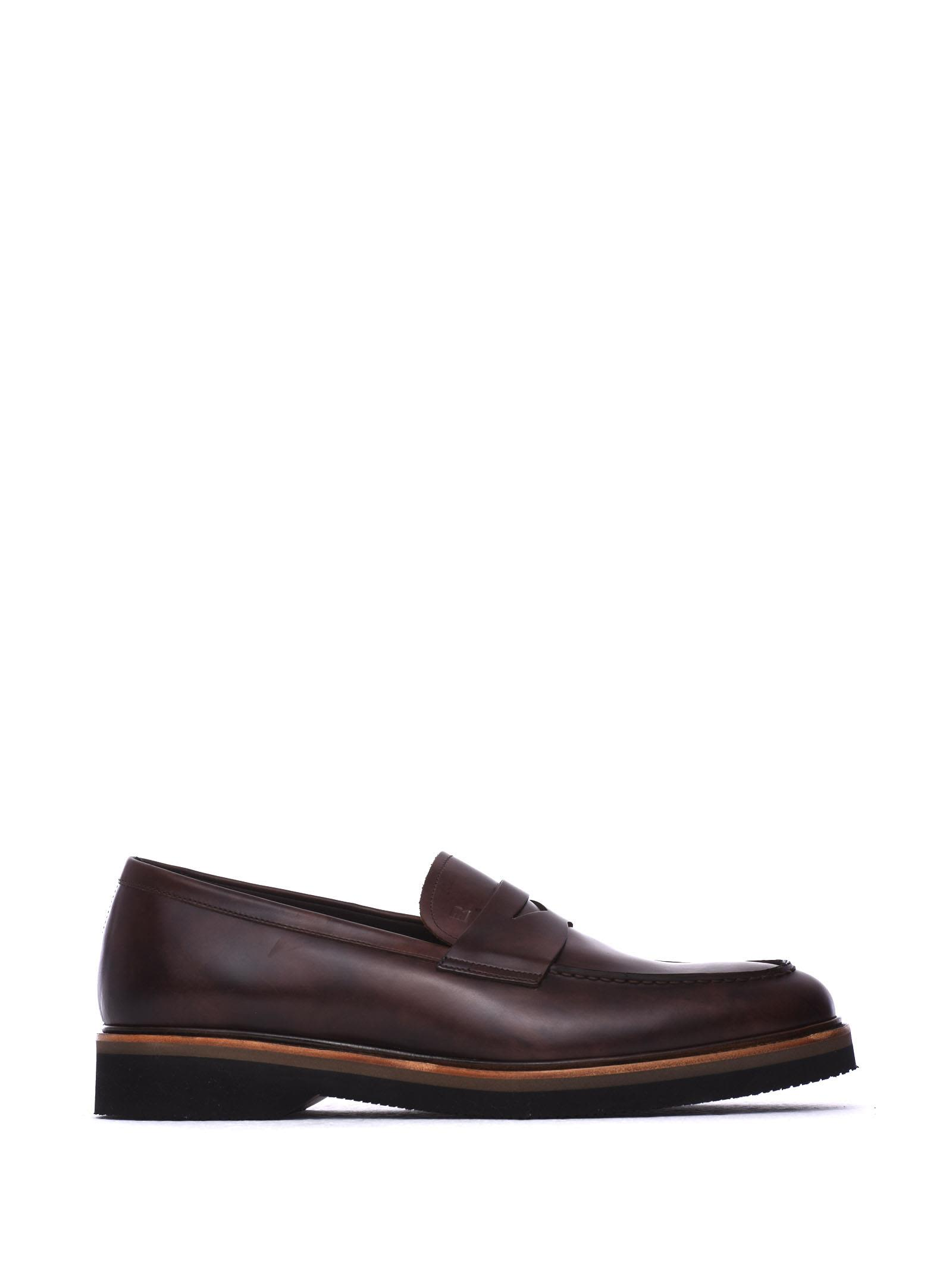 FRATELLI ROSSETTI ONE Ebony Leather Loafer in Ebano