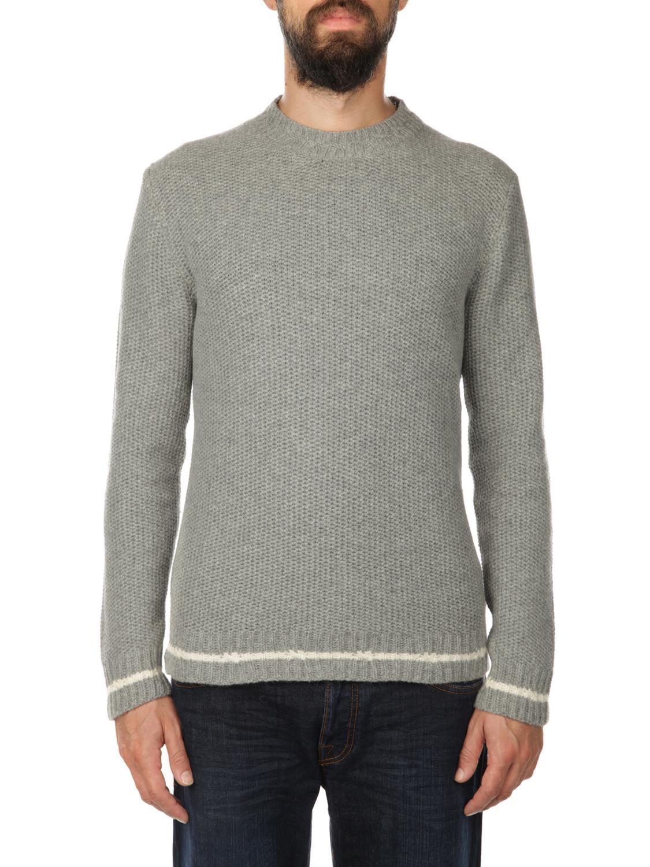 DANIELE FIESOLI Baby Alpaca And Extrafine Merinos Wool Sweater in Grey