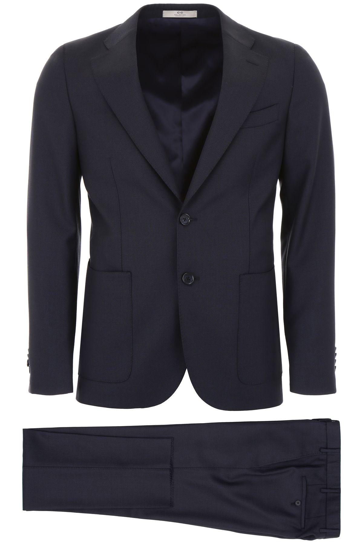 CC COLLECTION CORNELIANI Virgin Wool Suit in Navy