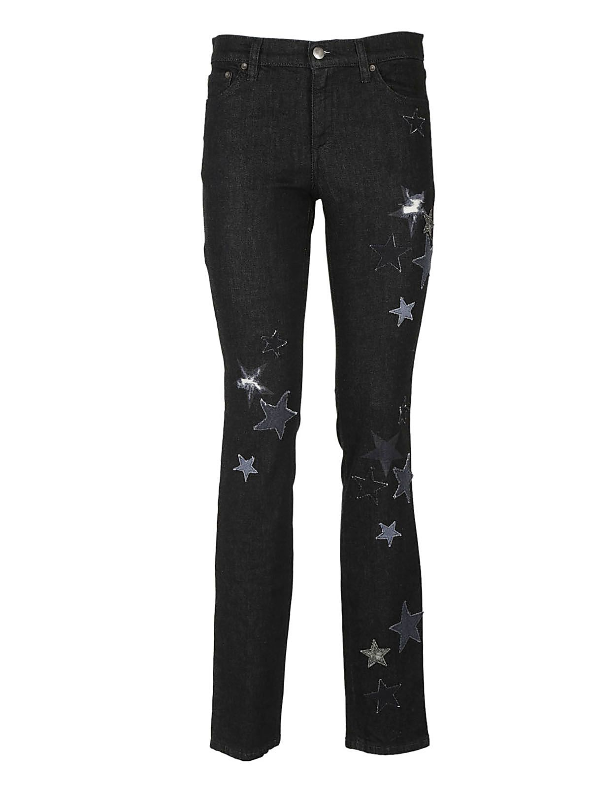 Red Valentino Star Embroidered Jeans 10404121