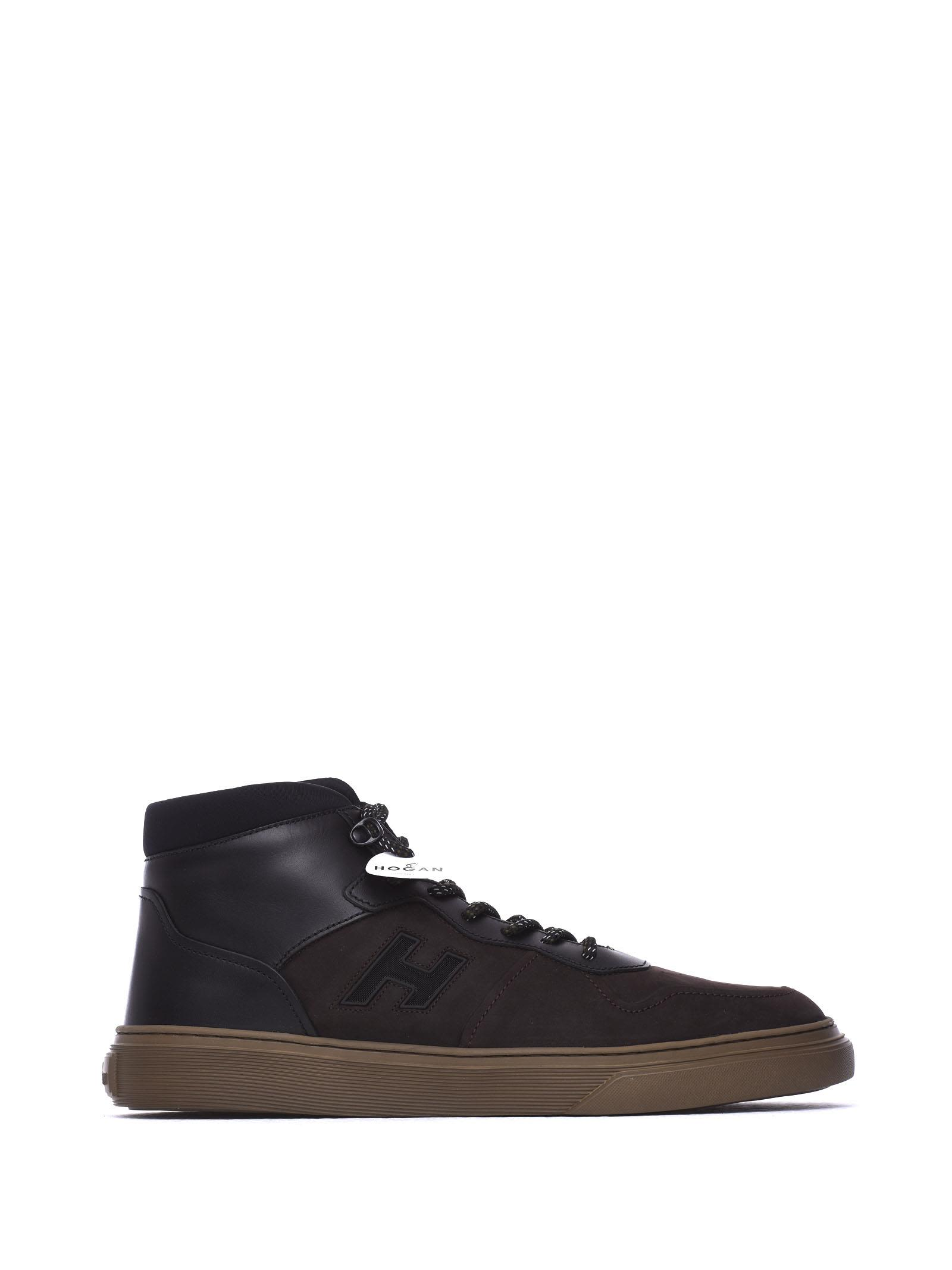 Hi-top Sneakers H365 Brown And Black