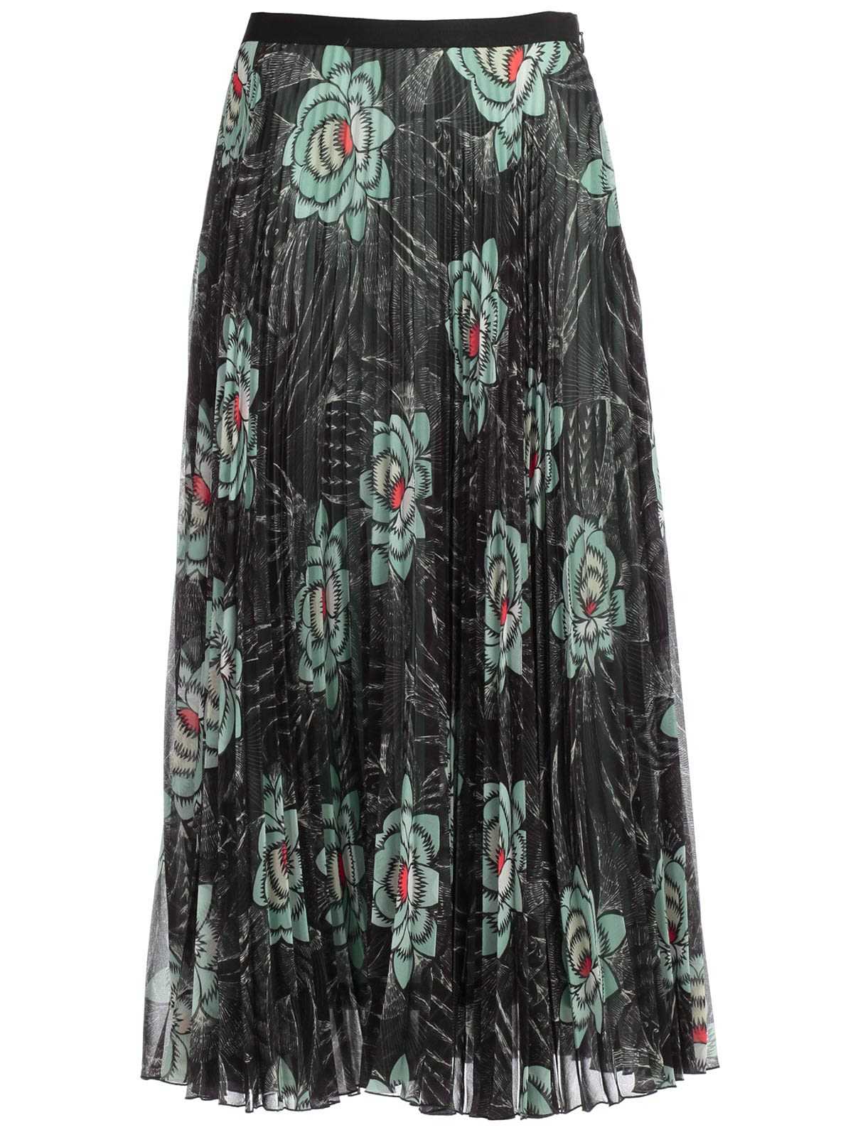 Dries Van Noten Pleated skirts FLORAL PLEATED SKIRT