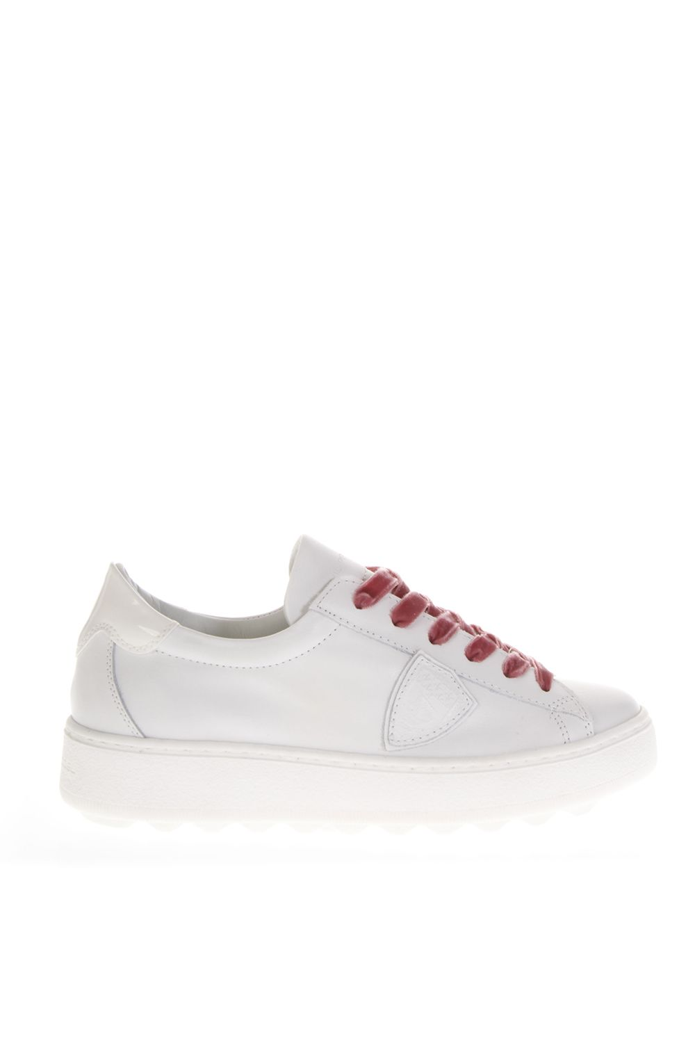 Madeline White Leather Sneakers