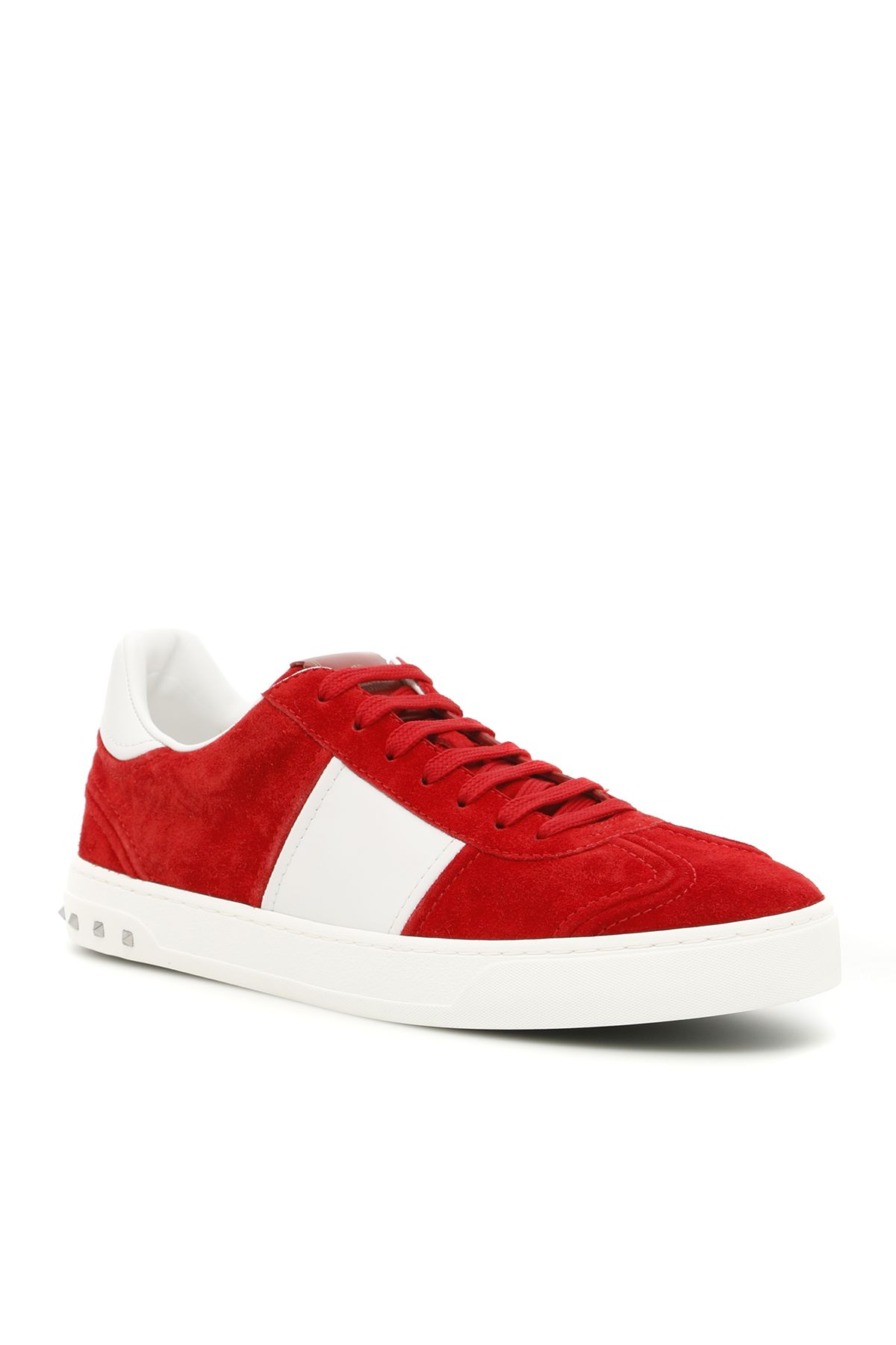 New Valentino Flycrew Sneakers Bianco Rosso