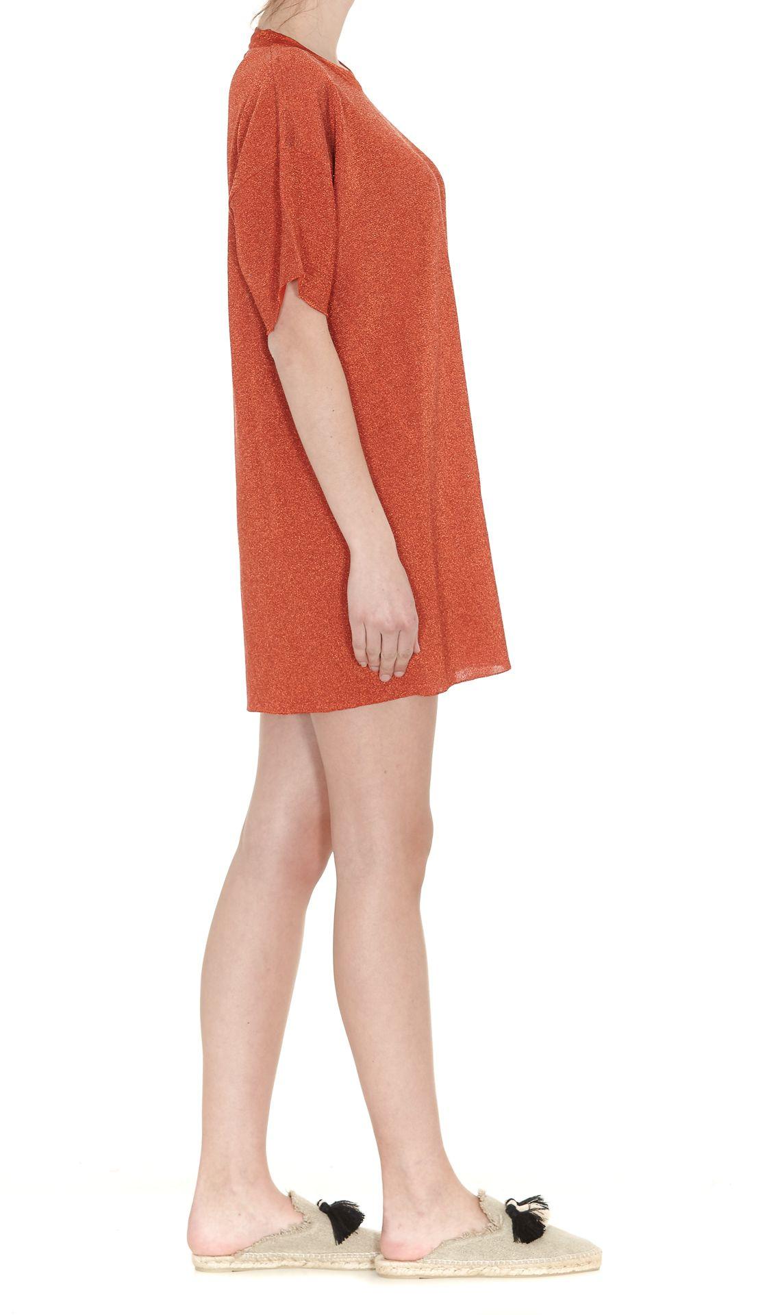 V-neck knit dress - Metallic Laneus rUyDhu