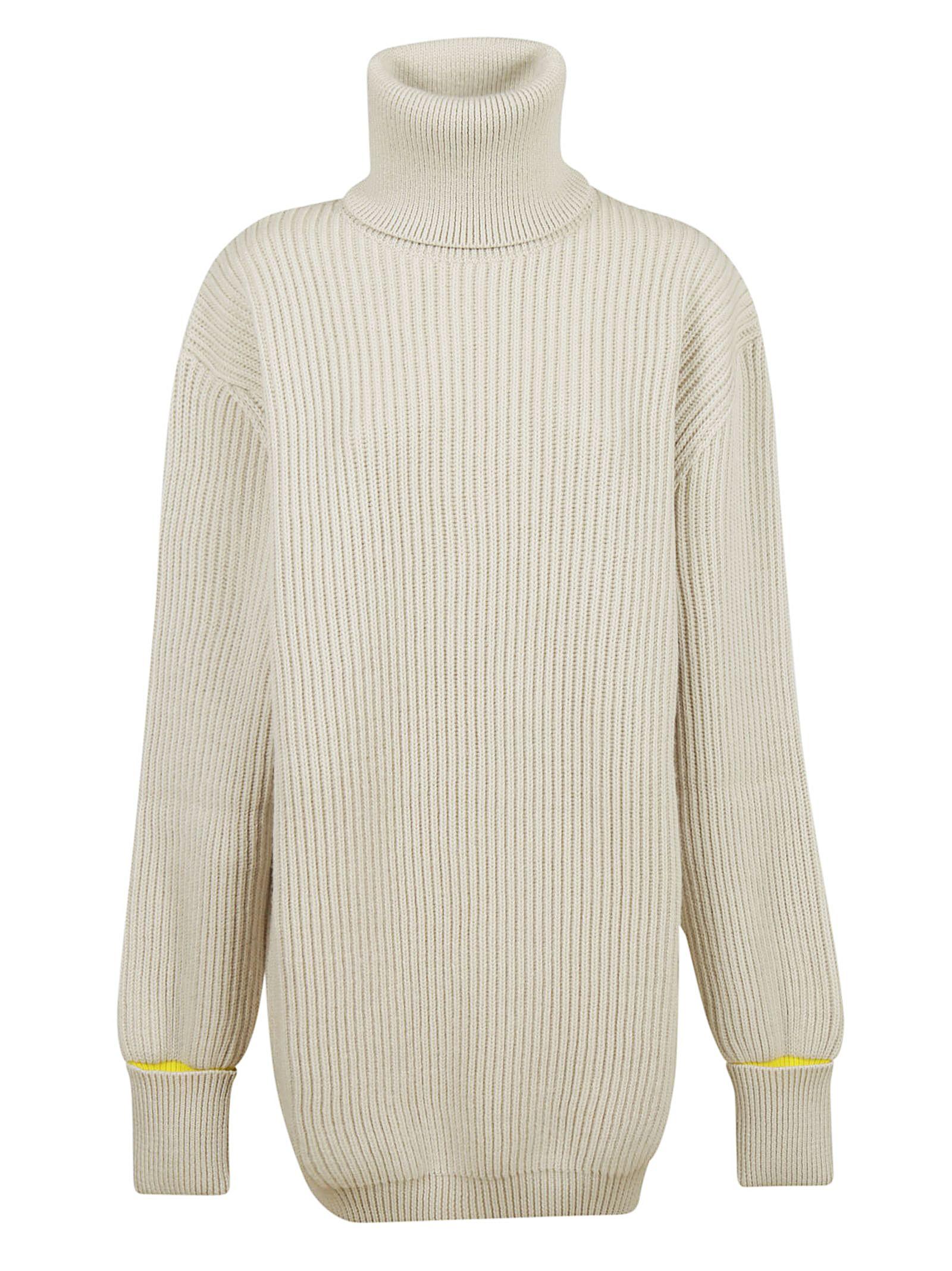 maison margiela -  Oversized Turtle Neck Sweater