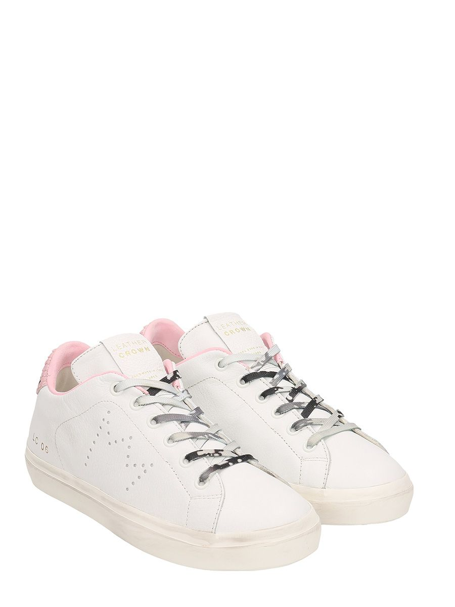 Leather Crown Low Wlc06 And Pink Leather Sneakers Cheap Online Store Manchester 2hcg1S02
