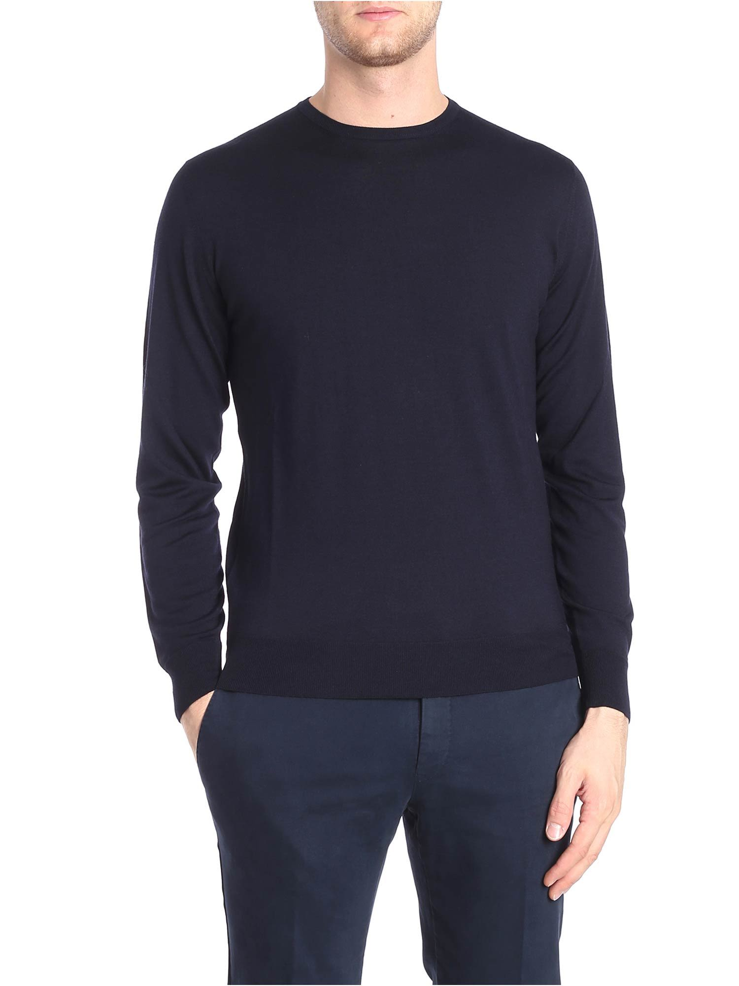 LUIGI BORRELLI Classic Sweater in Blue