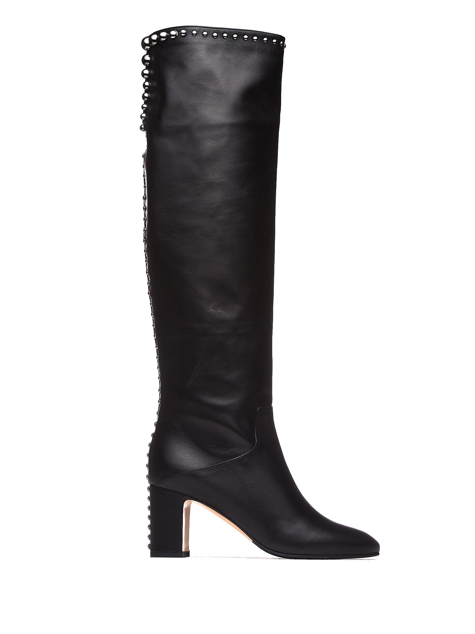 NINALILOU Boots With Studs in Nero