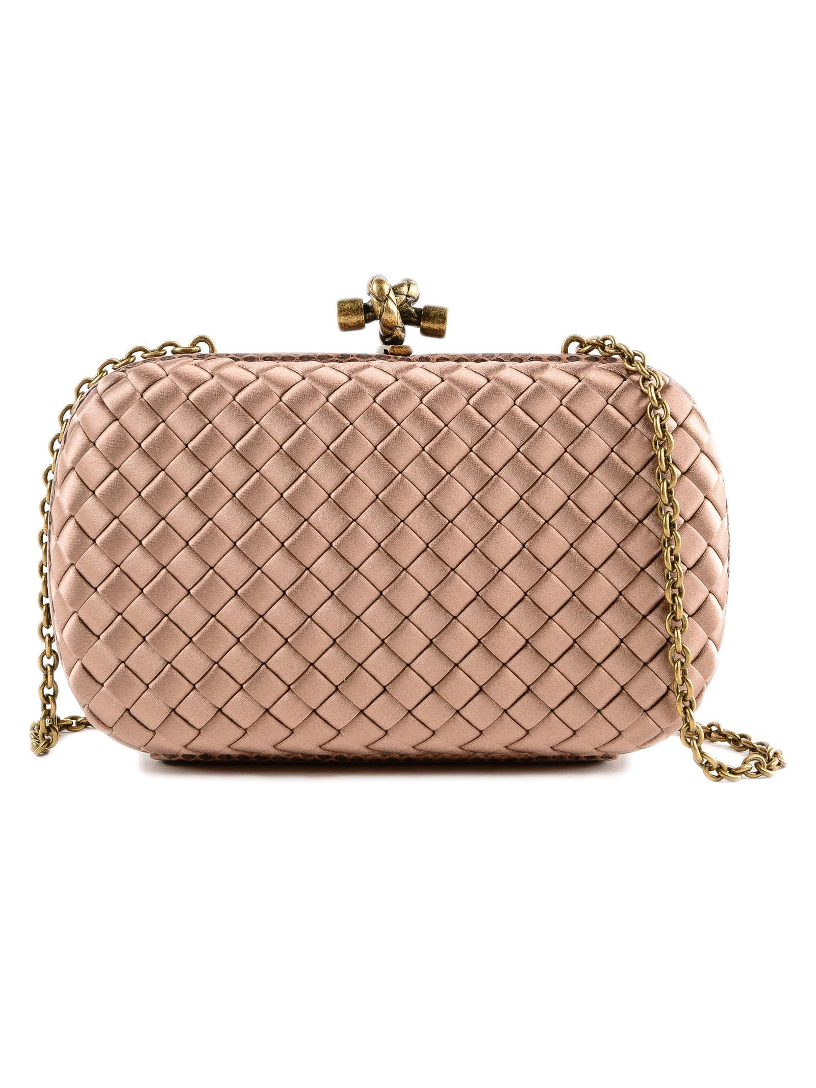 04528741275 BOTTEGA VENETA CHAIN KNOT EVENING BAG, DAHLIA   ModeSens