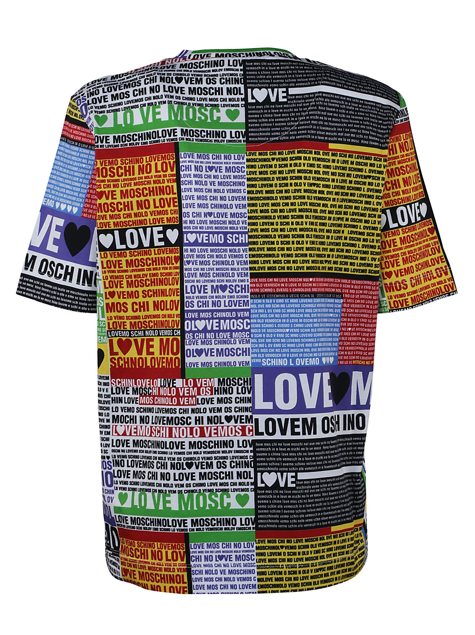 patch pattern shirt - Multicolour Moschino Discount High Quality 93fSFEod