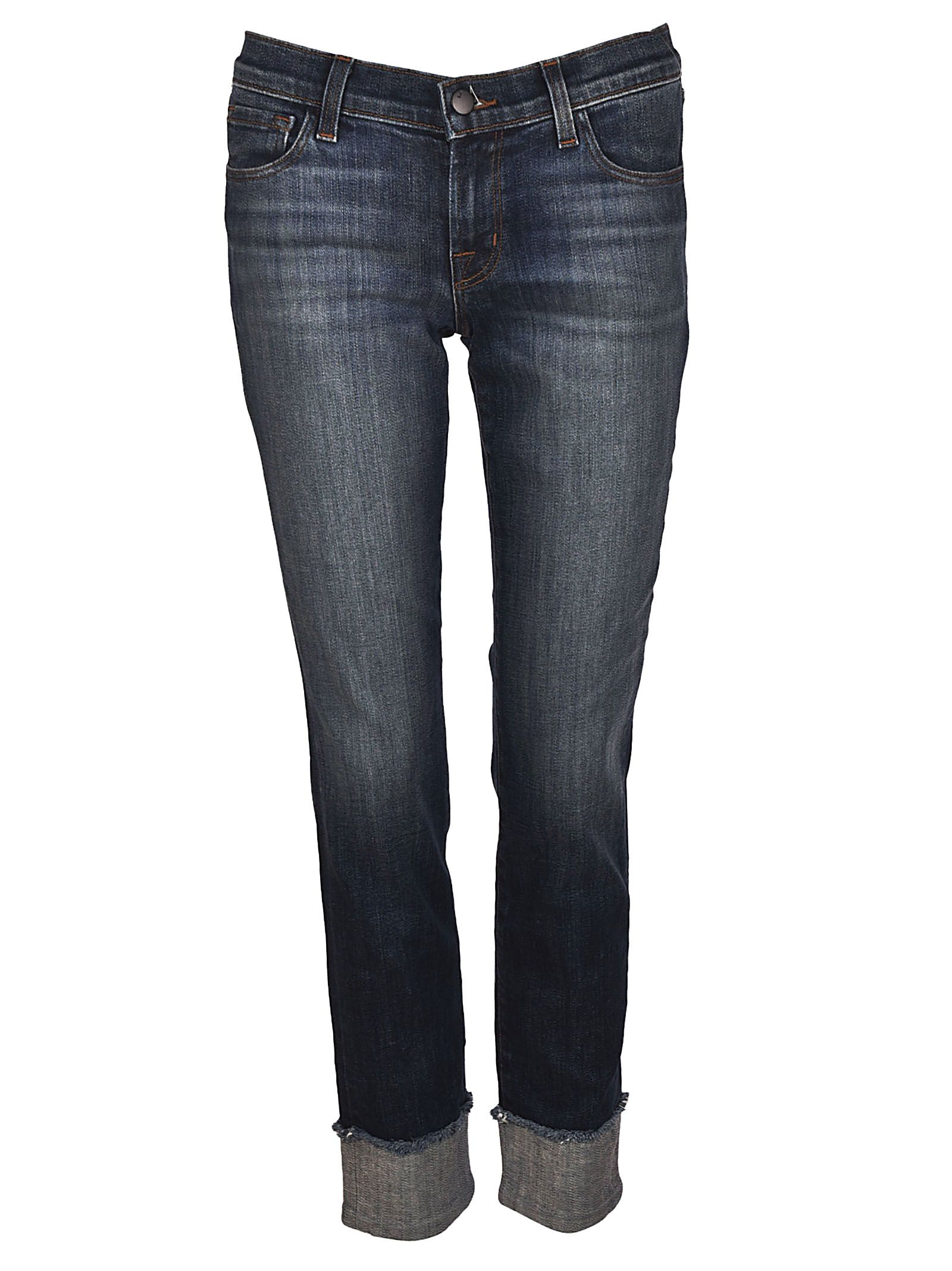 stonewashed cropped jeans - Blue J Brand qCGjrD