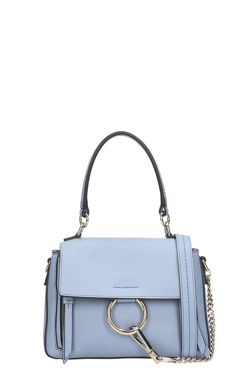 CHLOÉ FAYE DAY MINI SKY LEATHER SHOULDER BAG