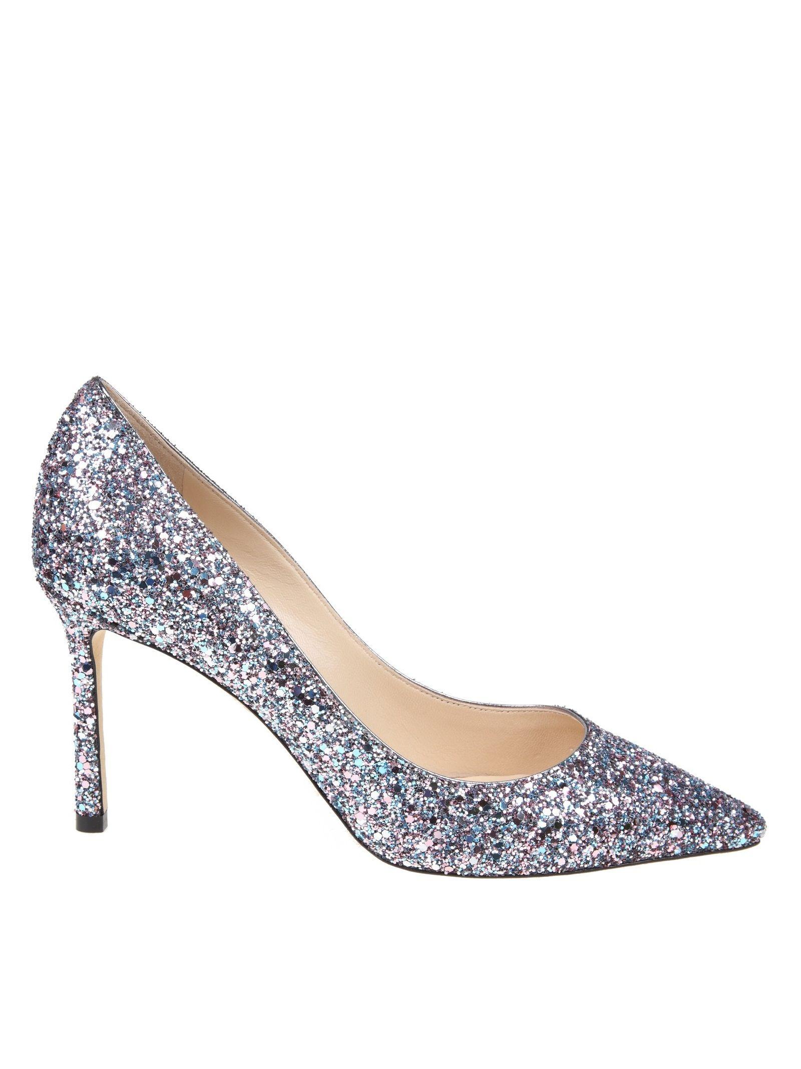 5530dbde9 Jimmy Choo Women S Romy 100 Glitter Leather High-Heel Pumps In Bubblegum