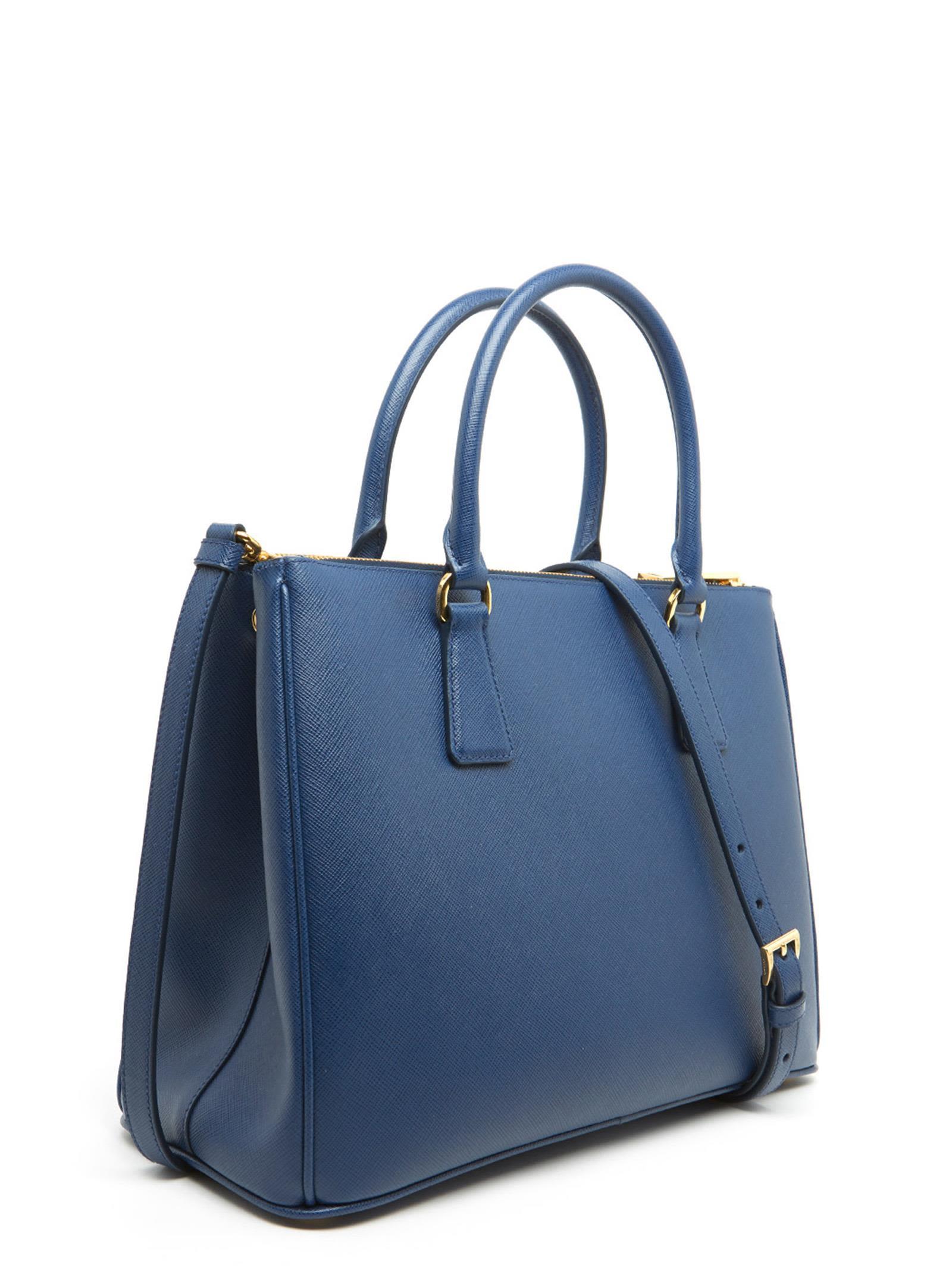 859304ebfbad ... greece prada galleria bag blue 5c73d 0533d
