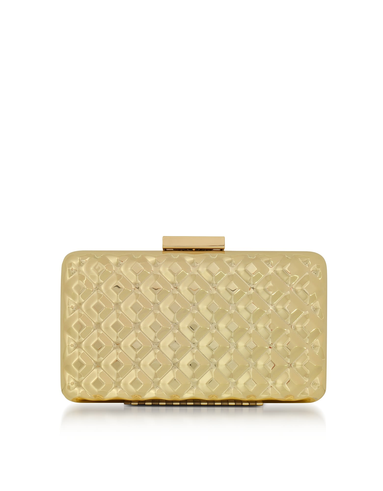 Love Moschino Clutches EVENING BAG METAL GOLD CLUTCH W-CHAIN