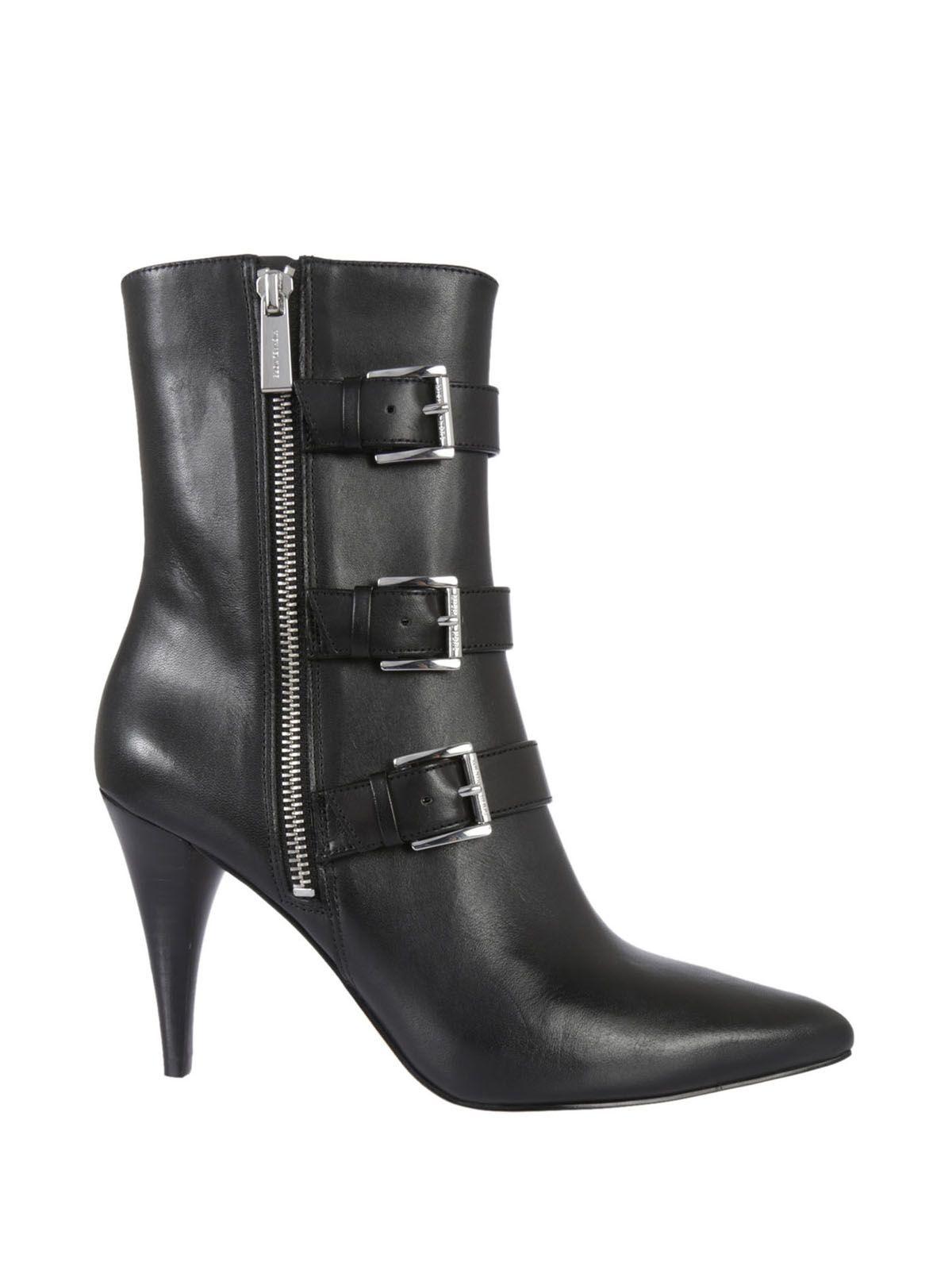 michael kors lori leather ankle boots black 9331131. Black Bedroom Furniture Sets. Home Design Ideas
