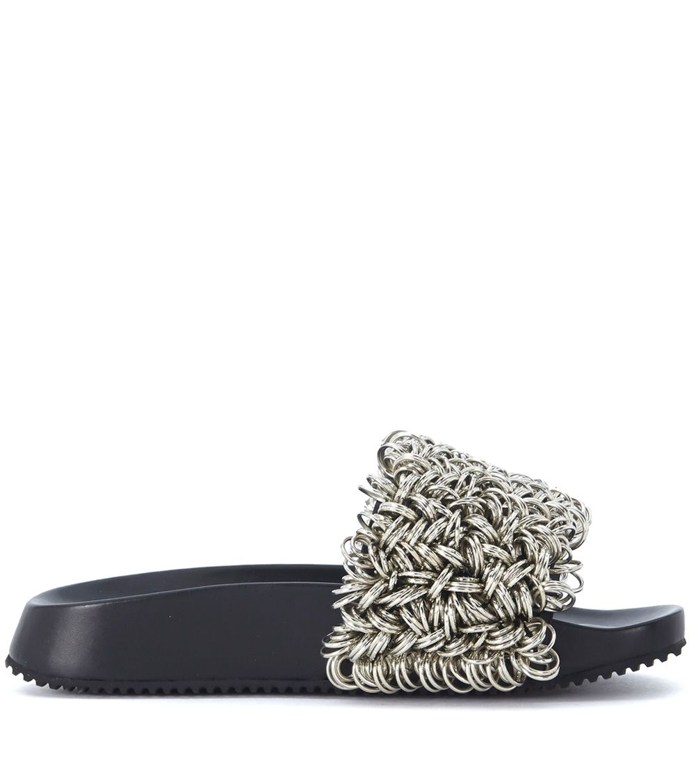 Extremely Sale Online Alexander Wang Suki leather slipper with metal rings women's in Sale Best Wholesale Cheap Sale Footlocker Sale Low Shipping Fee JSiAi17Aq