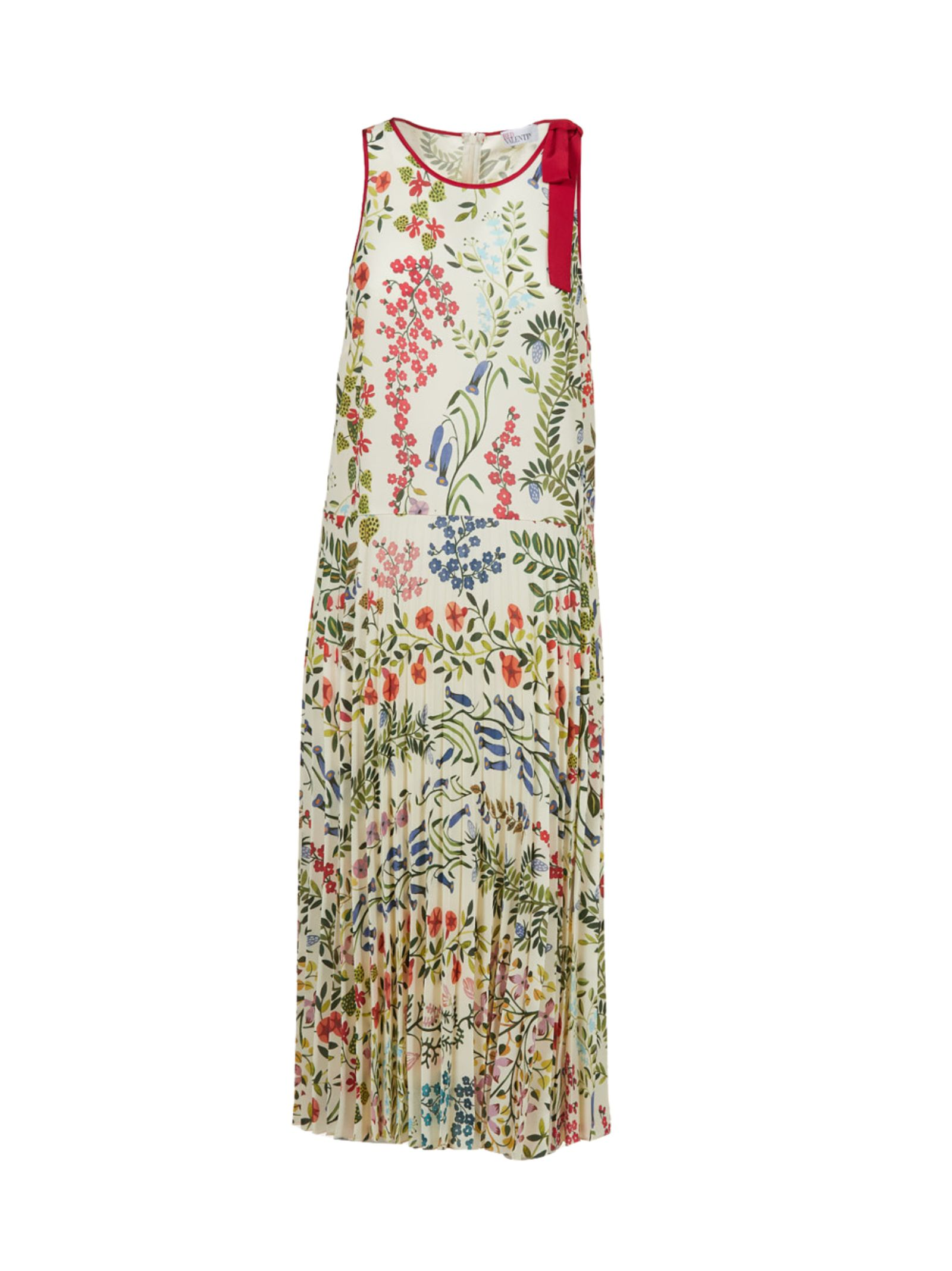 RED VALENTINO PRINTED FLORAL DRESS