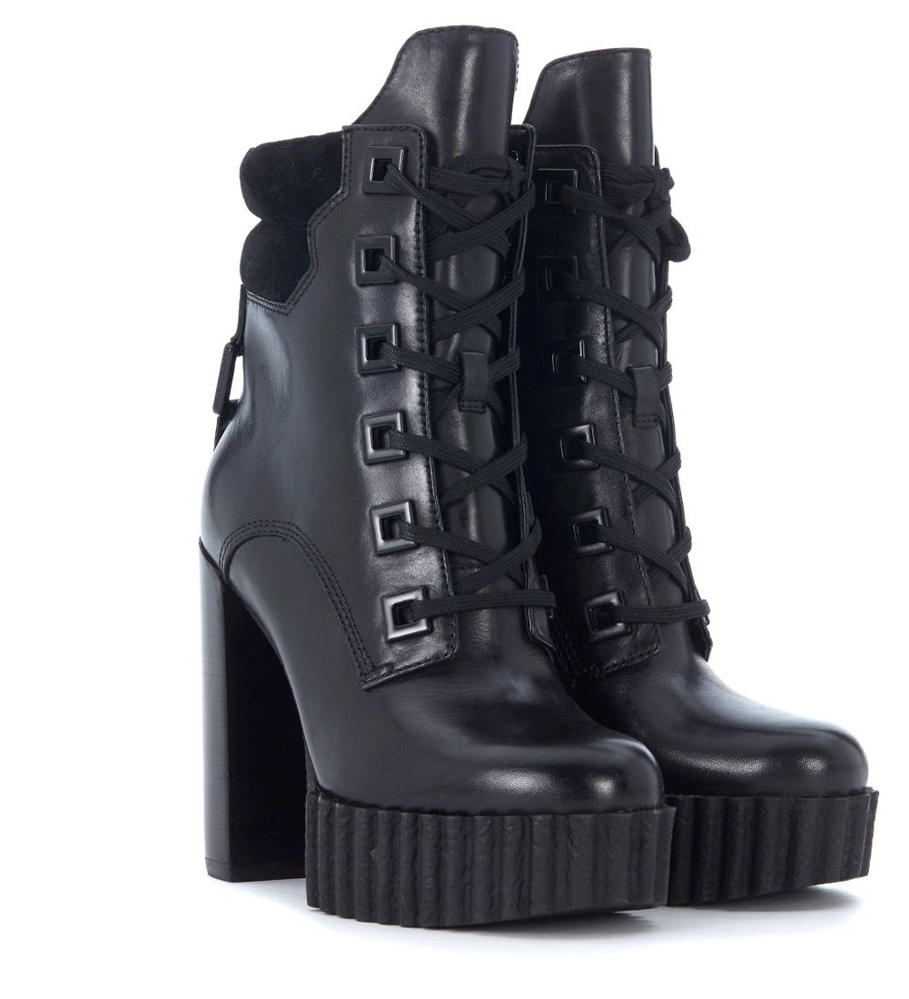 Clearance For Nice KENDALL + KYLIE Kendall+kylie Koty Black Leather And Suede Ankle Boots Free Shipping Best Sale Discount Official Site Sale Fast Delivery Discount Cheapest xmpOQ
