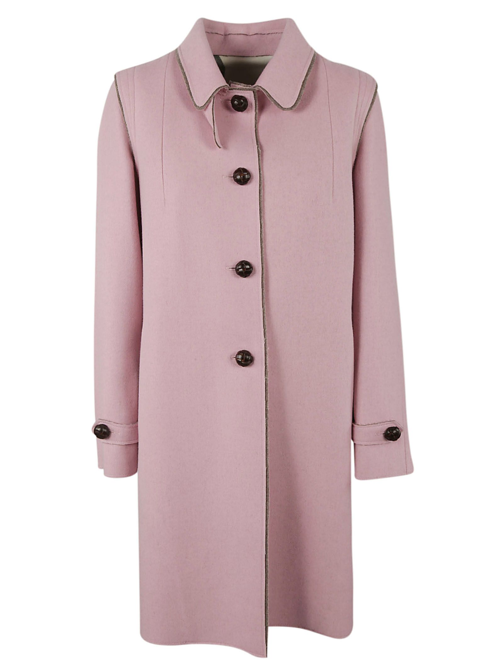 LODENTAL Lodental Single-Breasted Coat in Pink