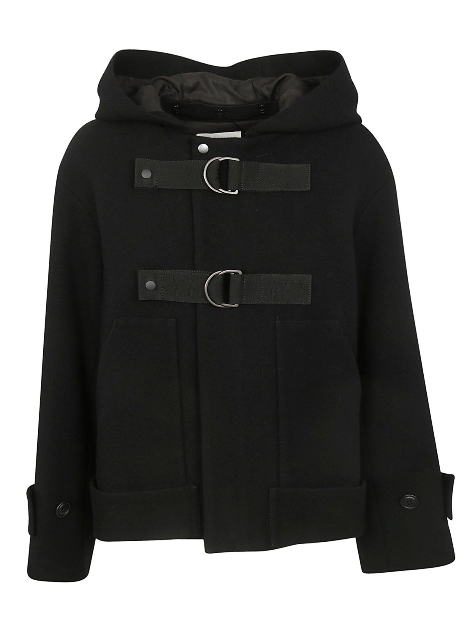 ZUCCA Hot-Line Caban Coat in Black