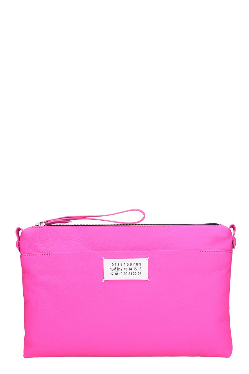 Glam Slam Leather Pouch - Pink