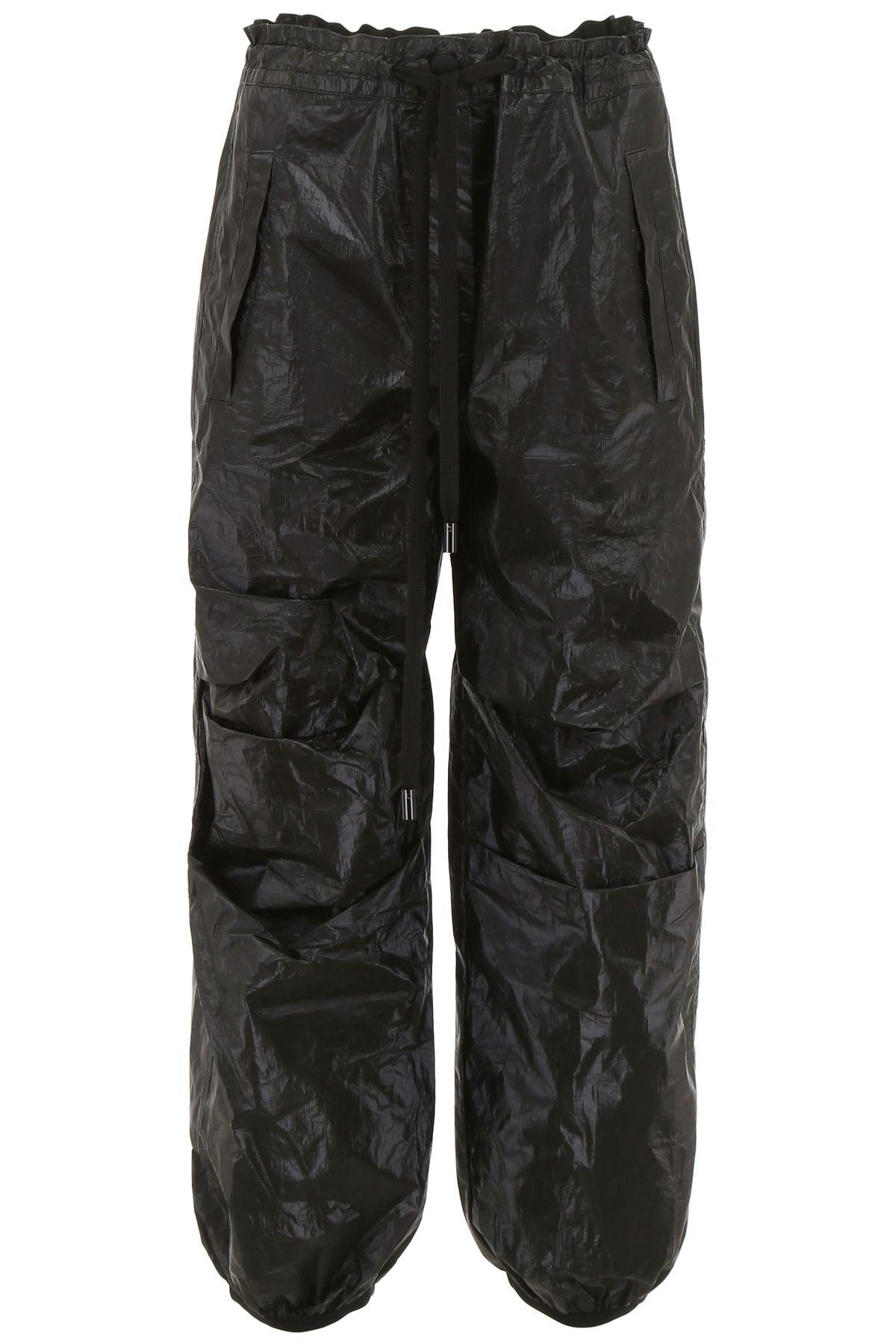 SCRAMBLED EGO Cargo Trousers in Black