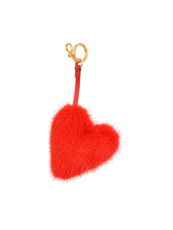 Anya Hindmarch Womens Heart-Shaped Mink Fur Bag Charm a7t0H9km