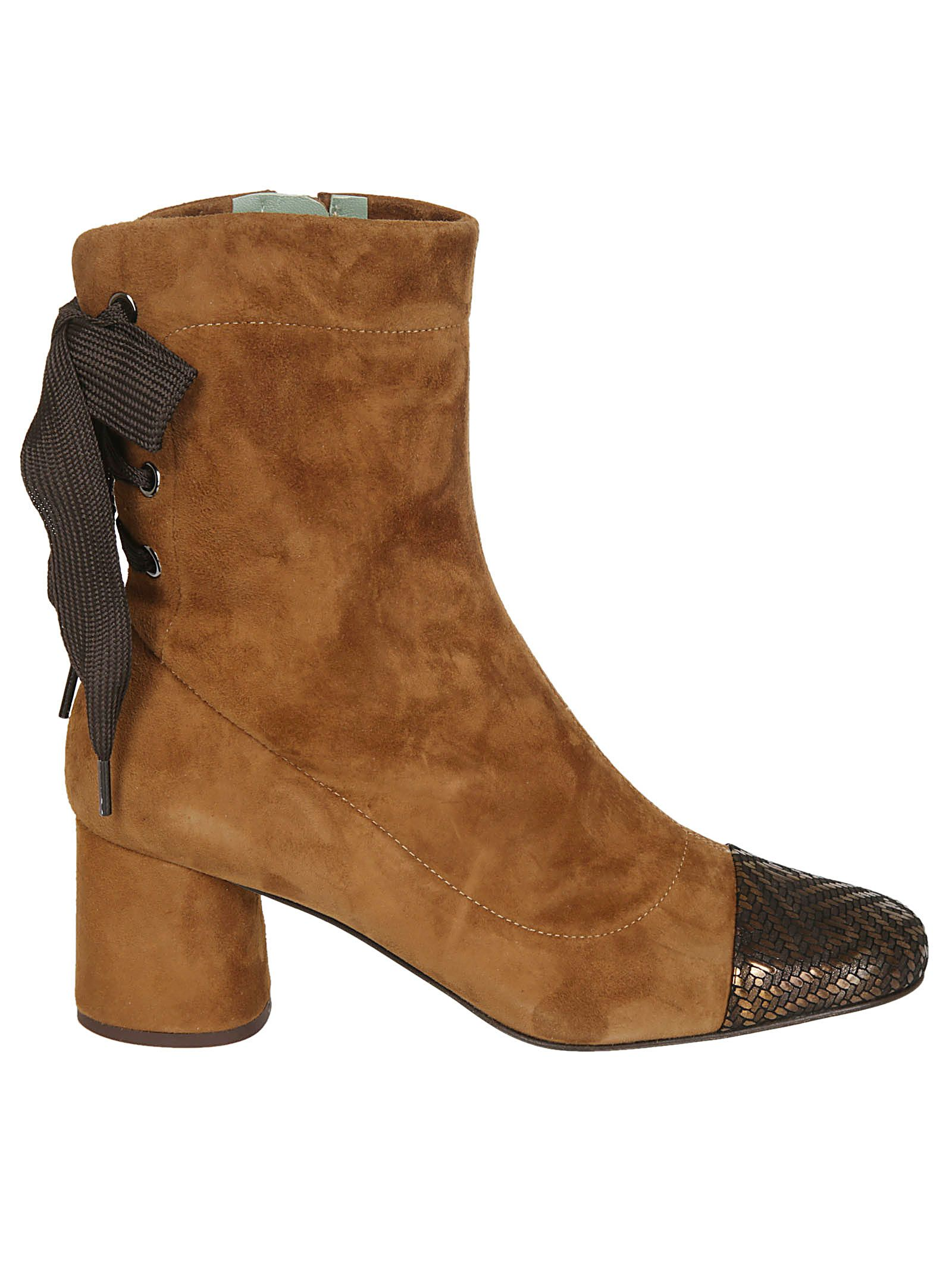 PAOLA D'ARCANO Paola D'Arcano Side Zip Ankle Boots in Cuoio