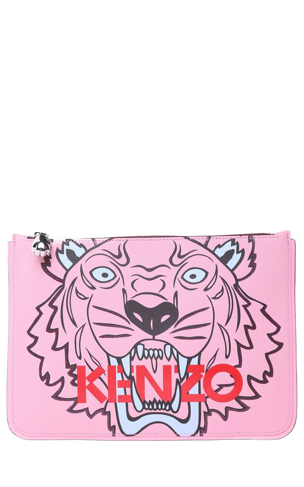 Kenzo Kenzo Tiger A4 Faux-leather Clutch