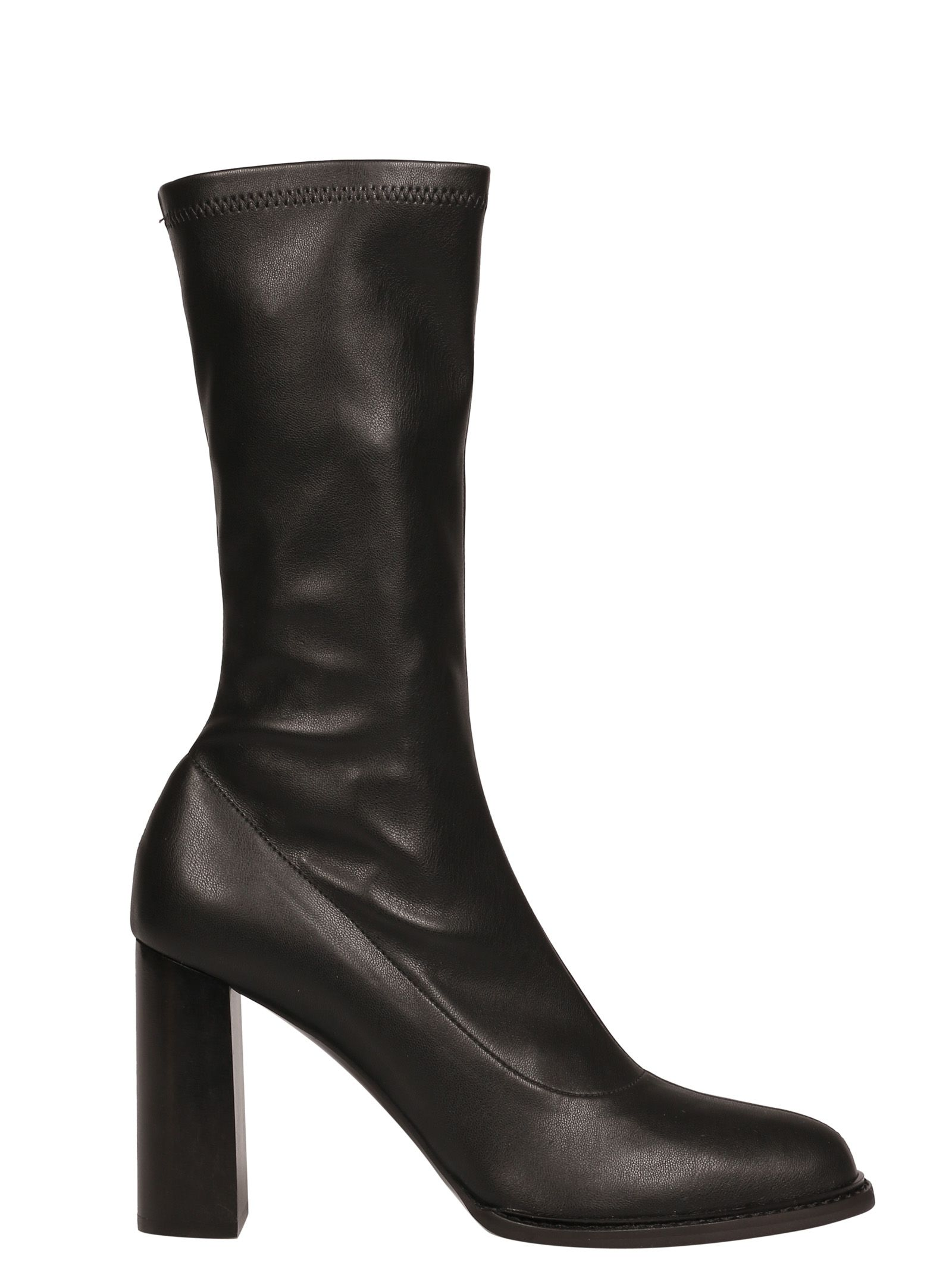 mid-calf block heel boots - Black Stella McCartney dpygJac