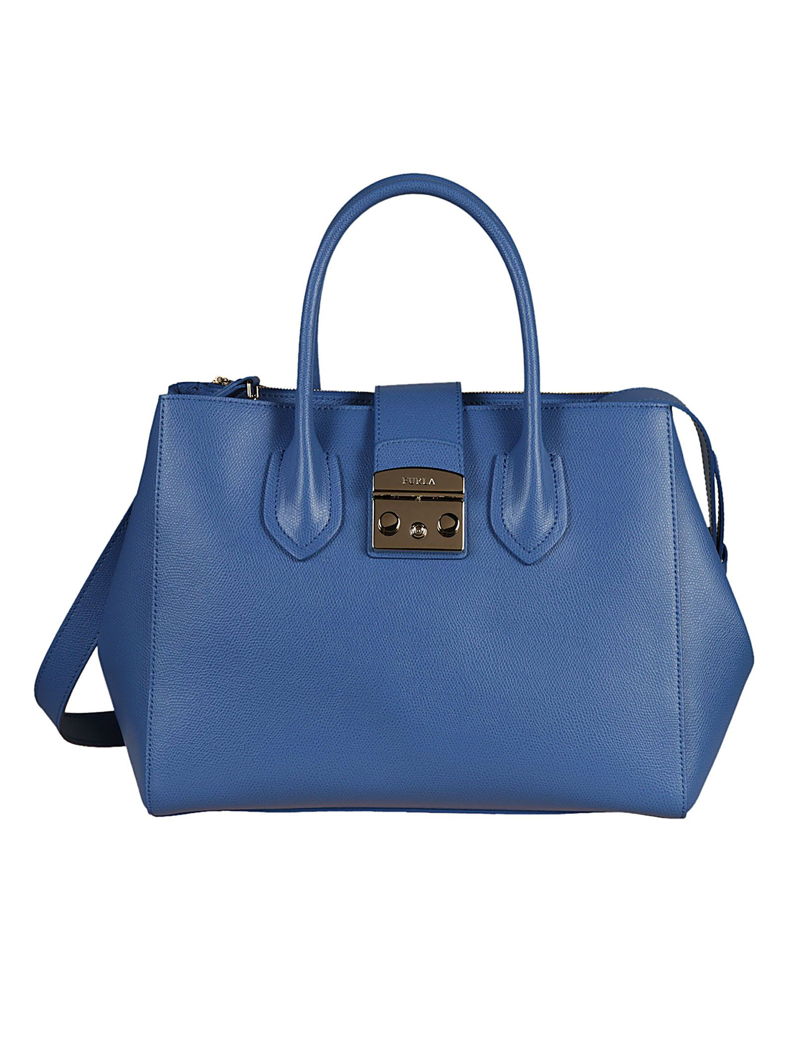 Shoulder Bag for Women On Sale, Metropolis, Sky, Leather, 2017, one size Furla