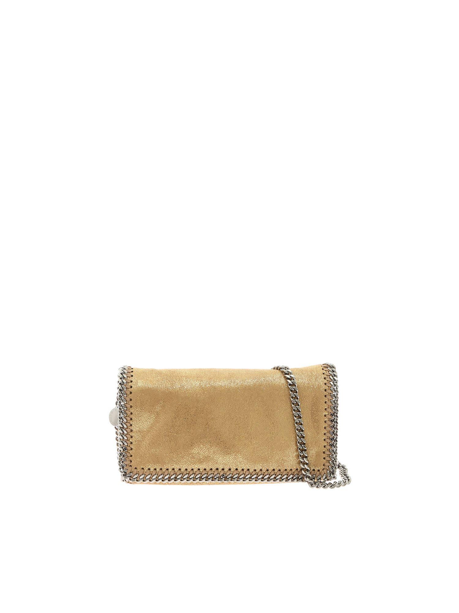 586f9f132070 Stella Mccartney Faux Leather Falabella Clutch In Oro