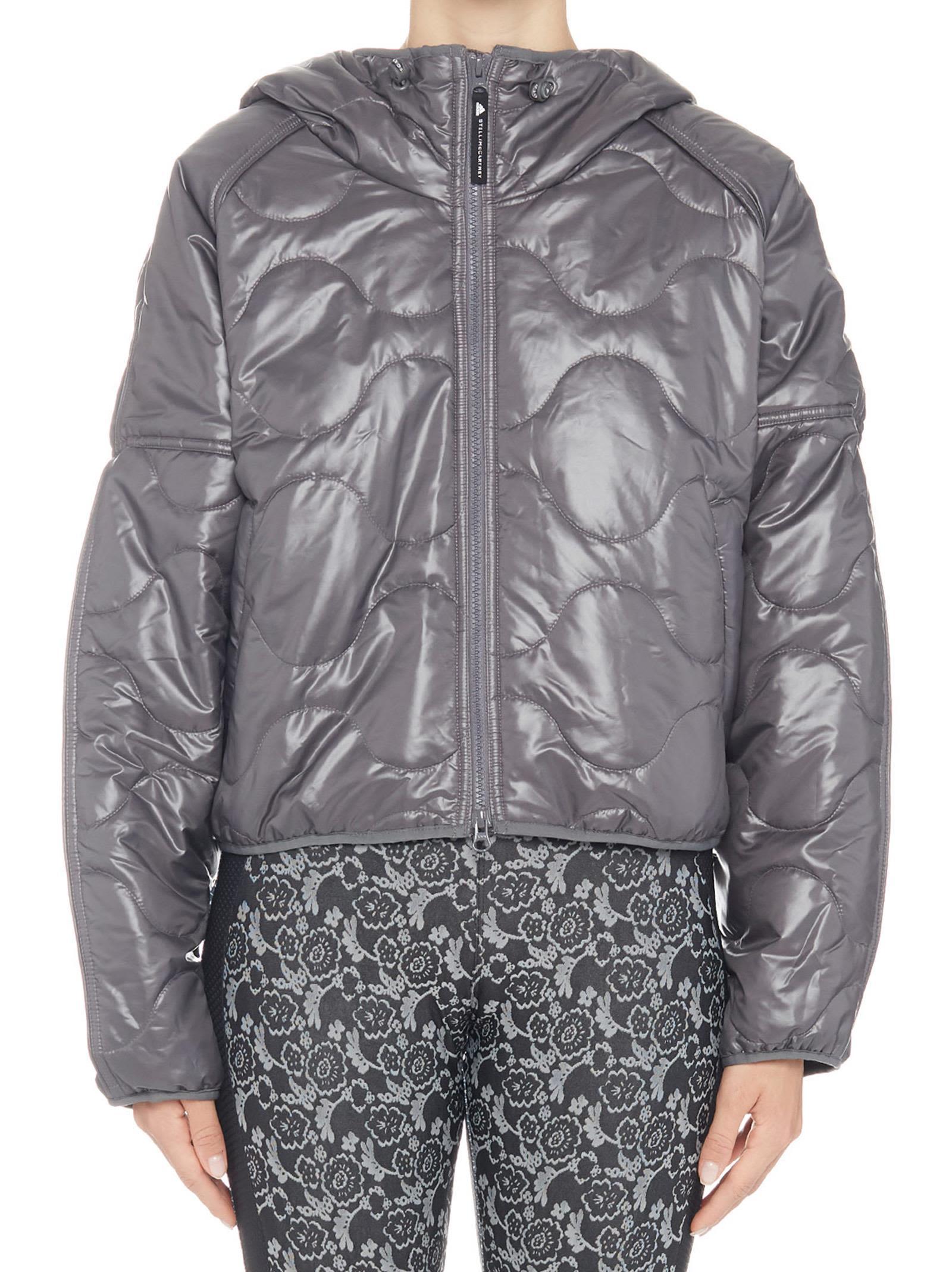 Adidas By Stella Mccartney Running Padded Jacket in Grey