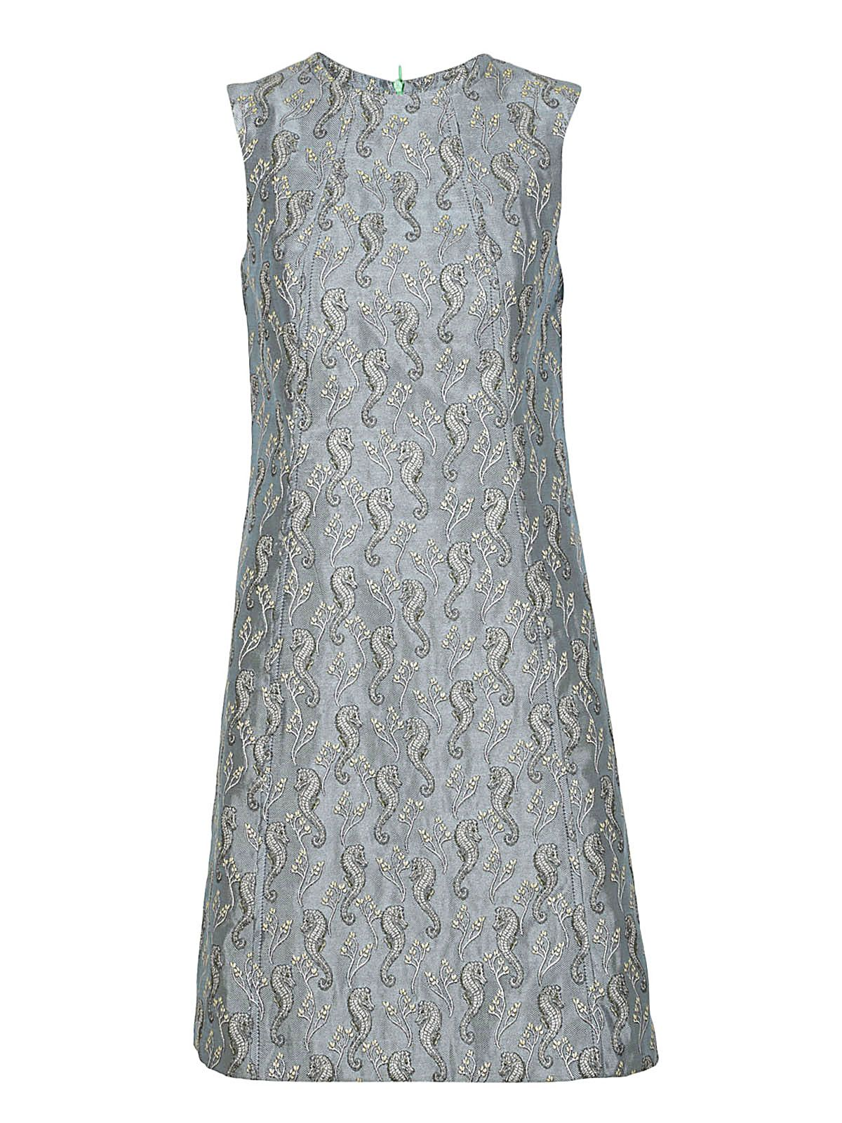 Femme Sea Horse Embroidered Dress 10559748